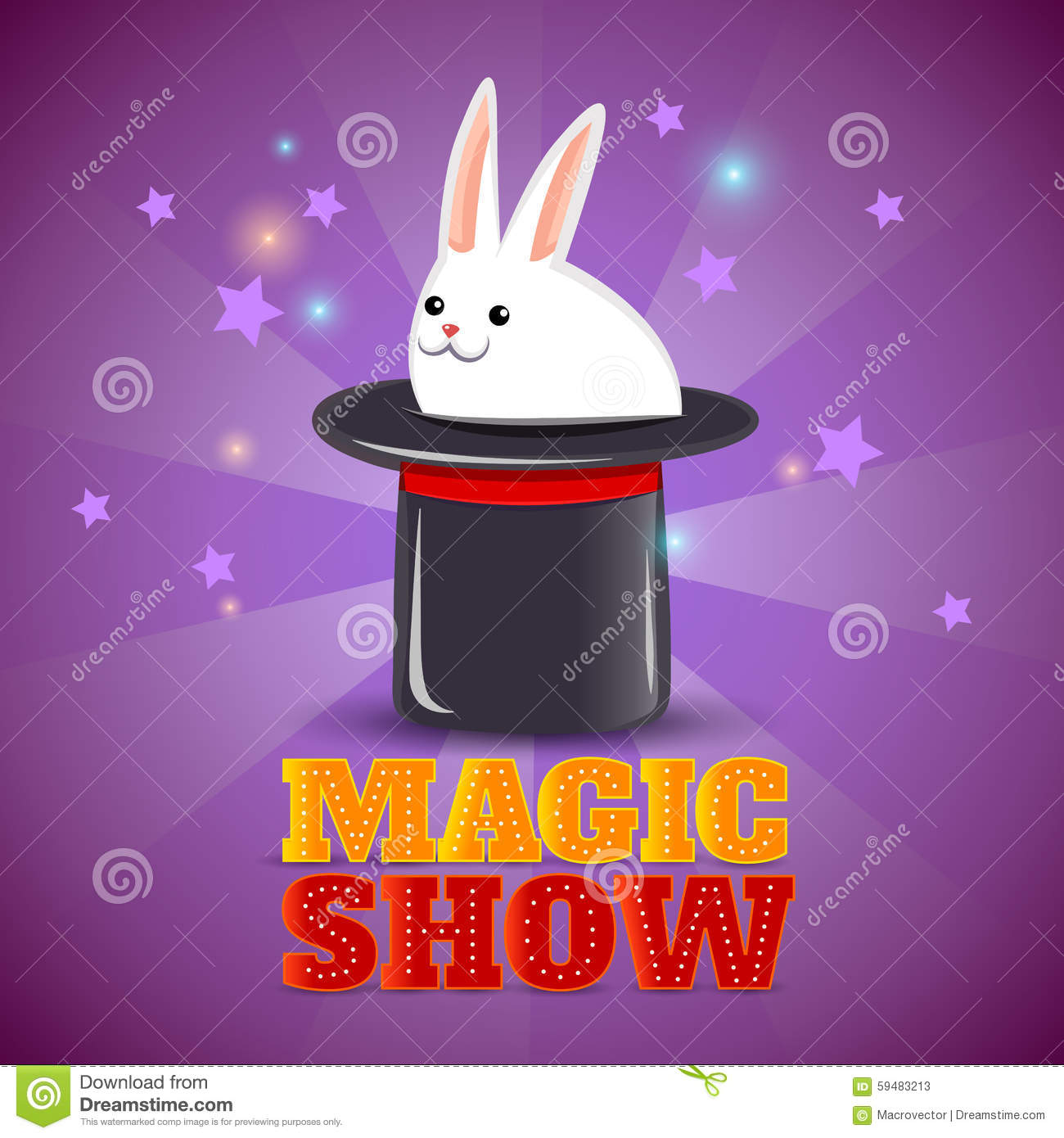Https Www Dreamstime Com Stock Illustration Magic Hat Trick Show Background Poster Travelling Circus Performance Advertisement Magical Rabbit Abstract Vector Image59483213