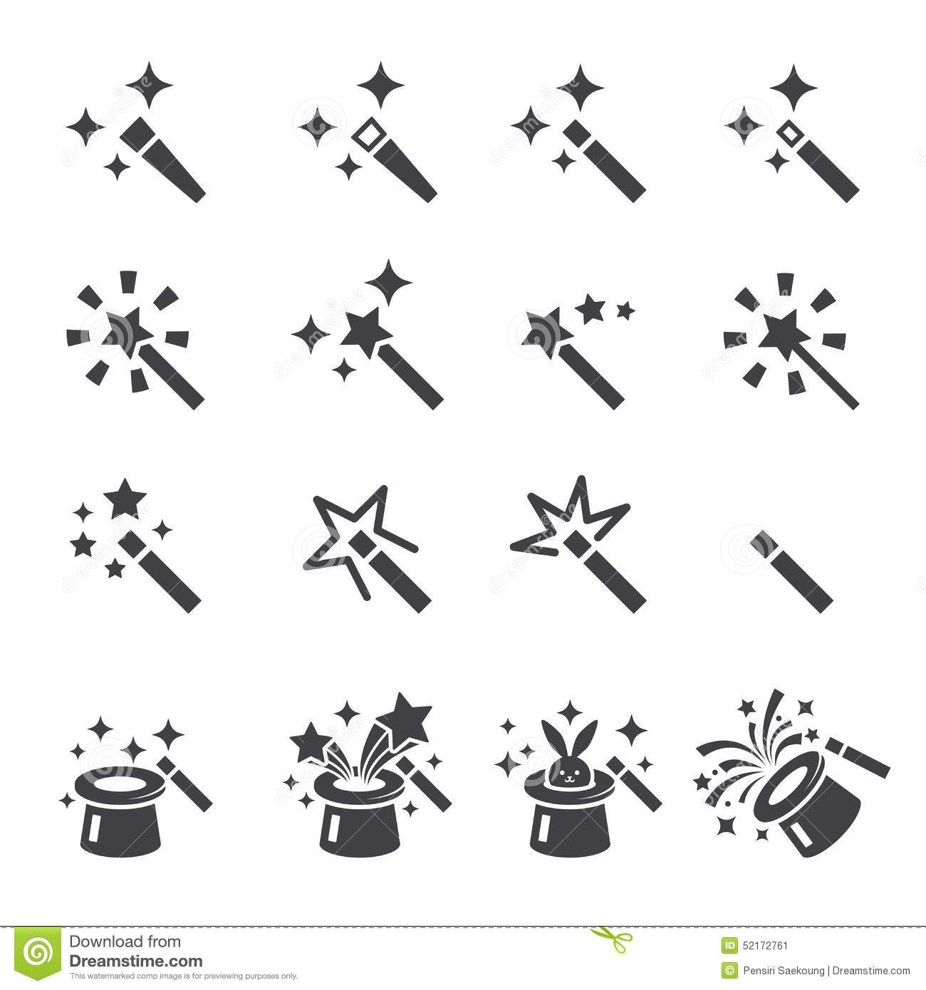 Magic icon set stock vector. Image of collection, design ...