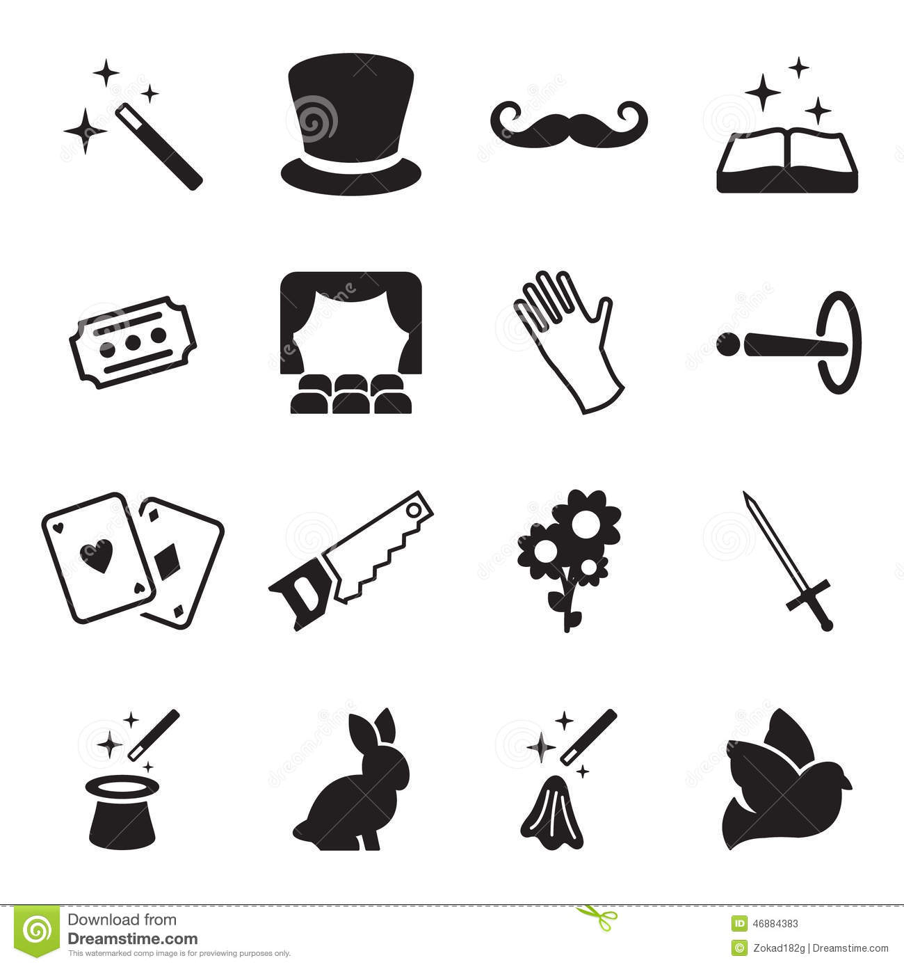 Magic Icons Stock Vector - Image: 46884383