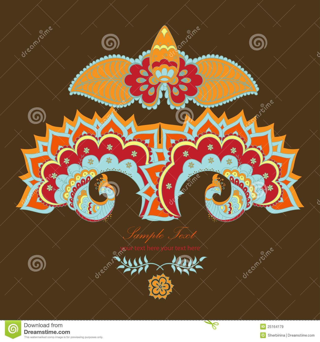 magic indian lotus and the peacock royalty free stock