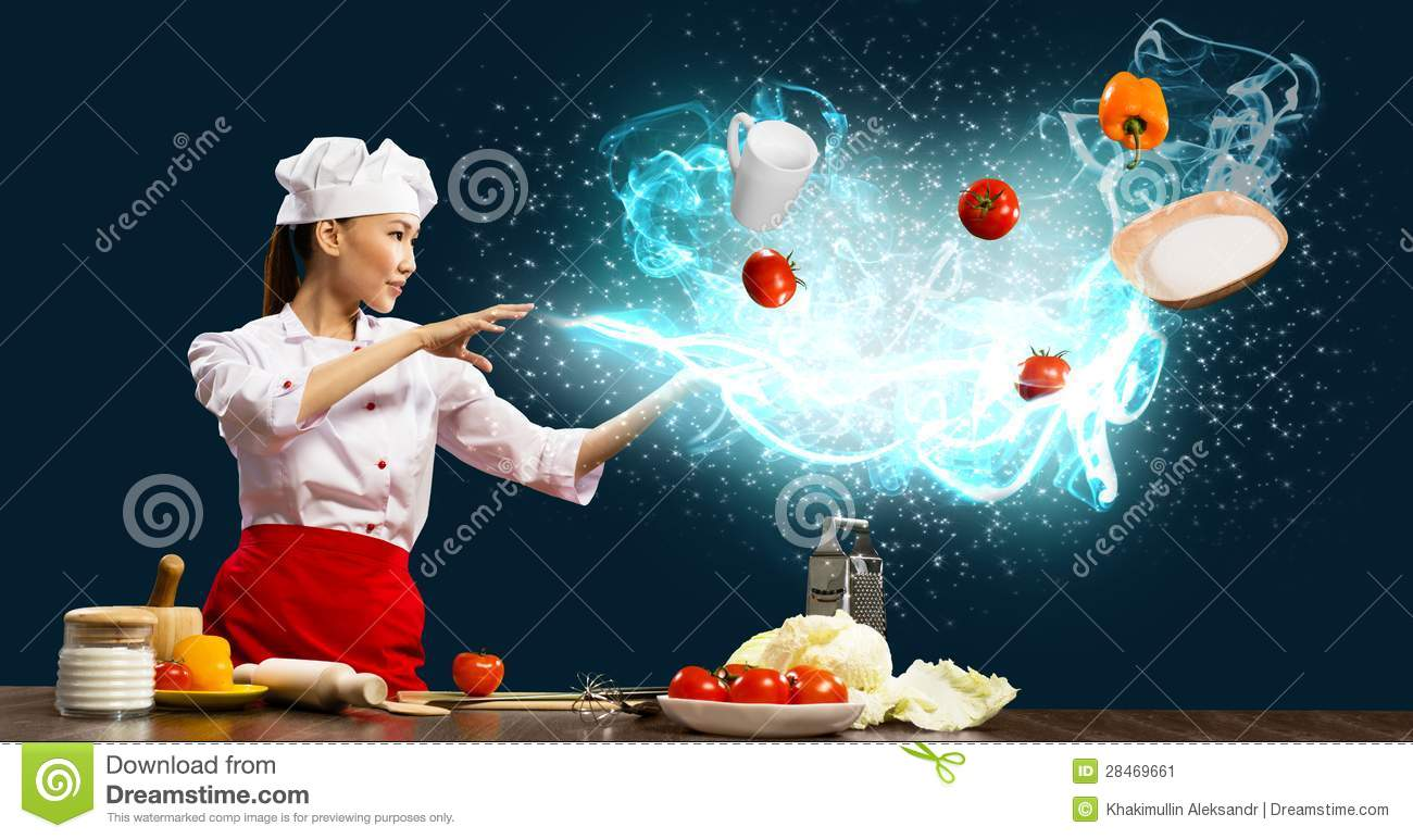 Magic in the kitchen stock image image 28469661 for Kichan image