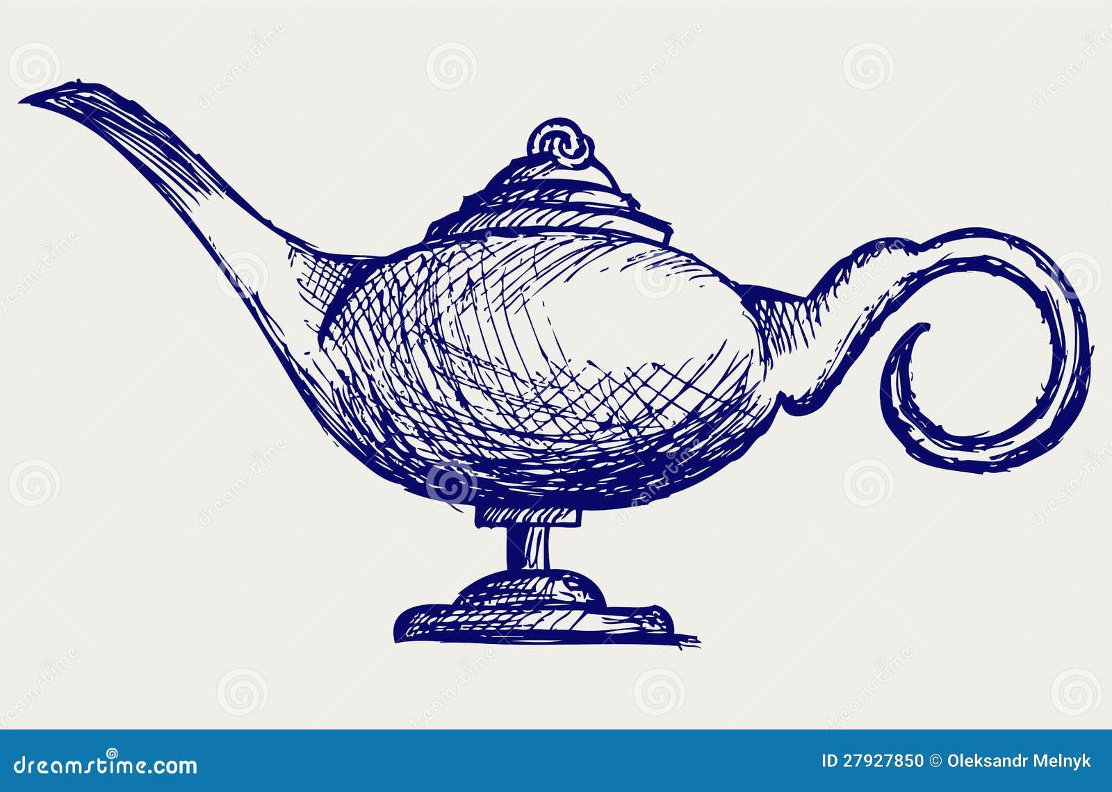 Magic Lamp Stock Photo Image 27927850