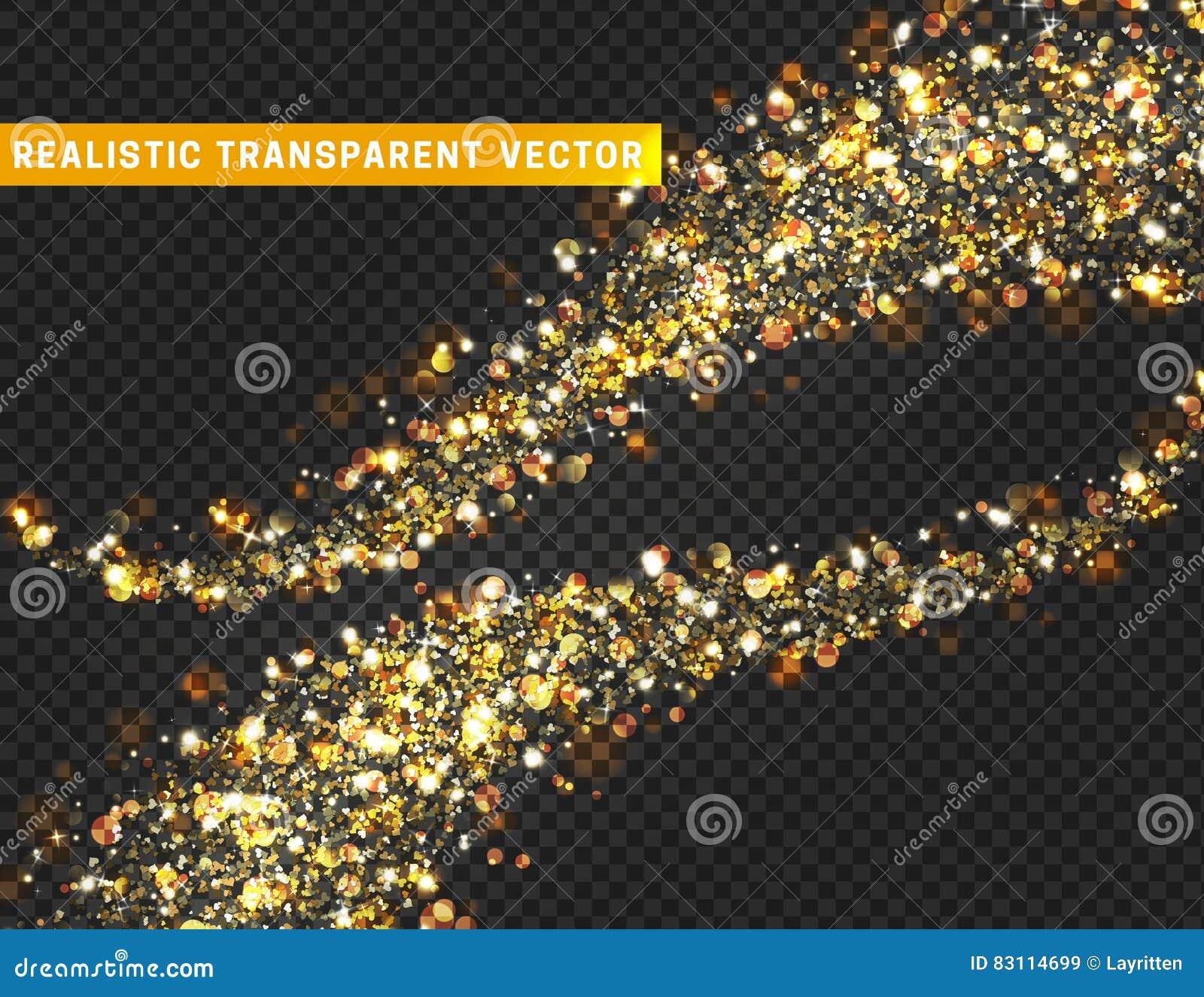 Magic light effect texture. Realistic particle glitter stars, hearts, circles spots.