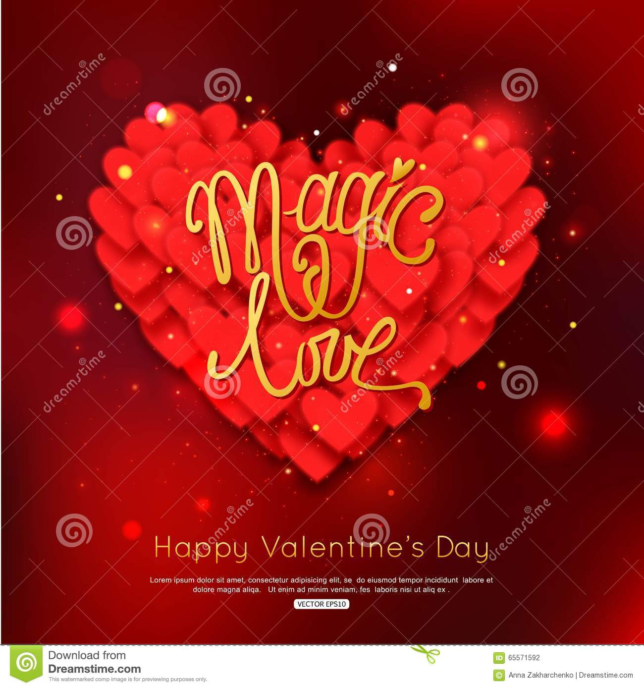 Magic love valentines day greeting card happy valentines day magic love valentines day greeting card happy valentines day background kristyandbryce Images