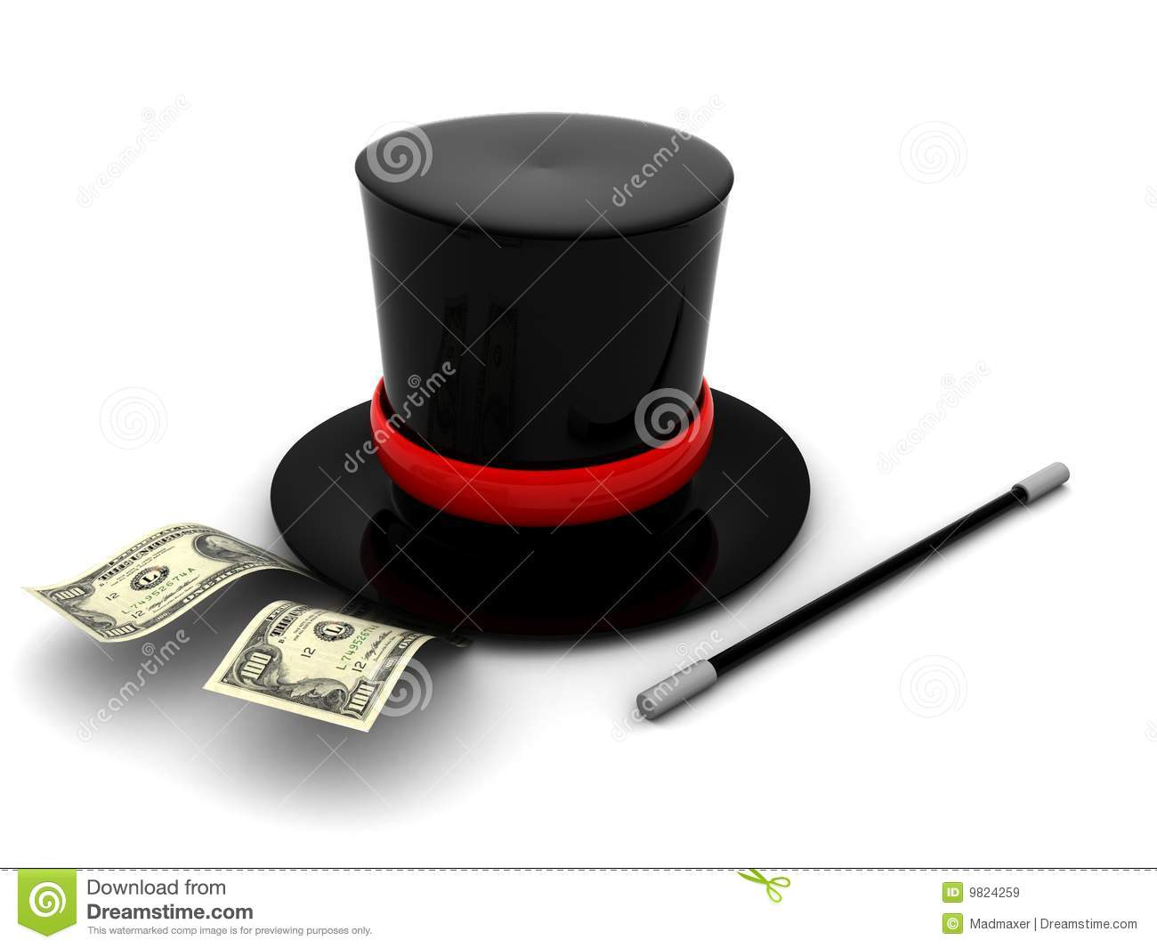 Magic money royalty free stock images image 9824259
