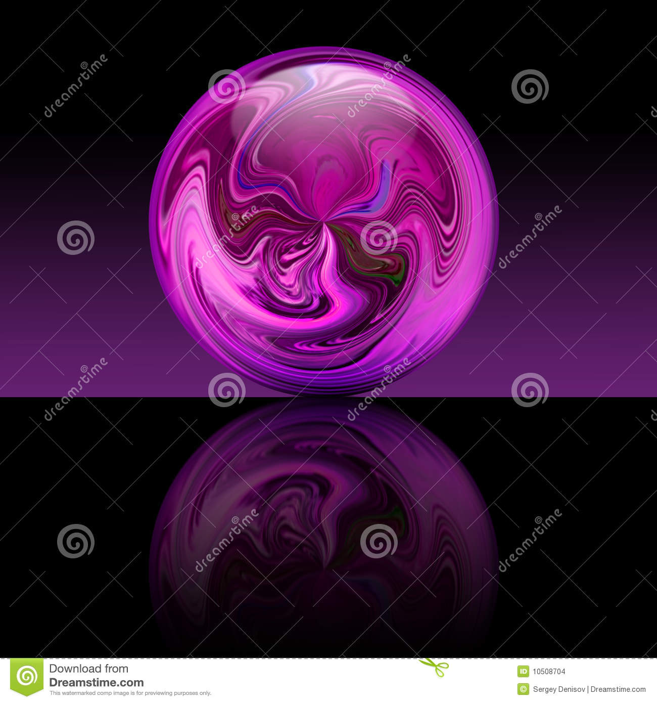 Magic Purple Ball Stock Images Image 10508704