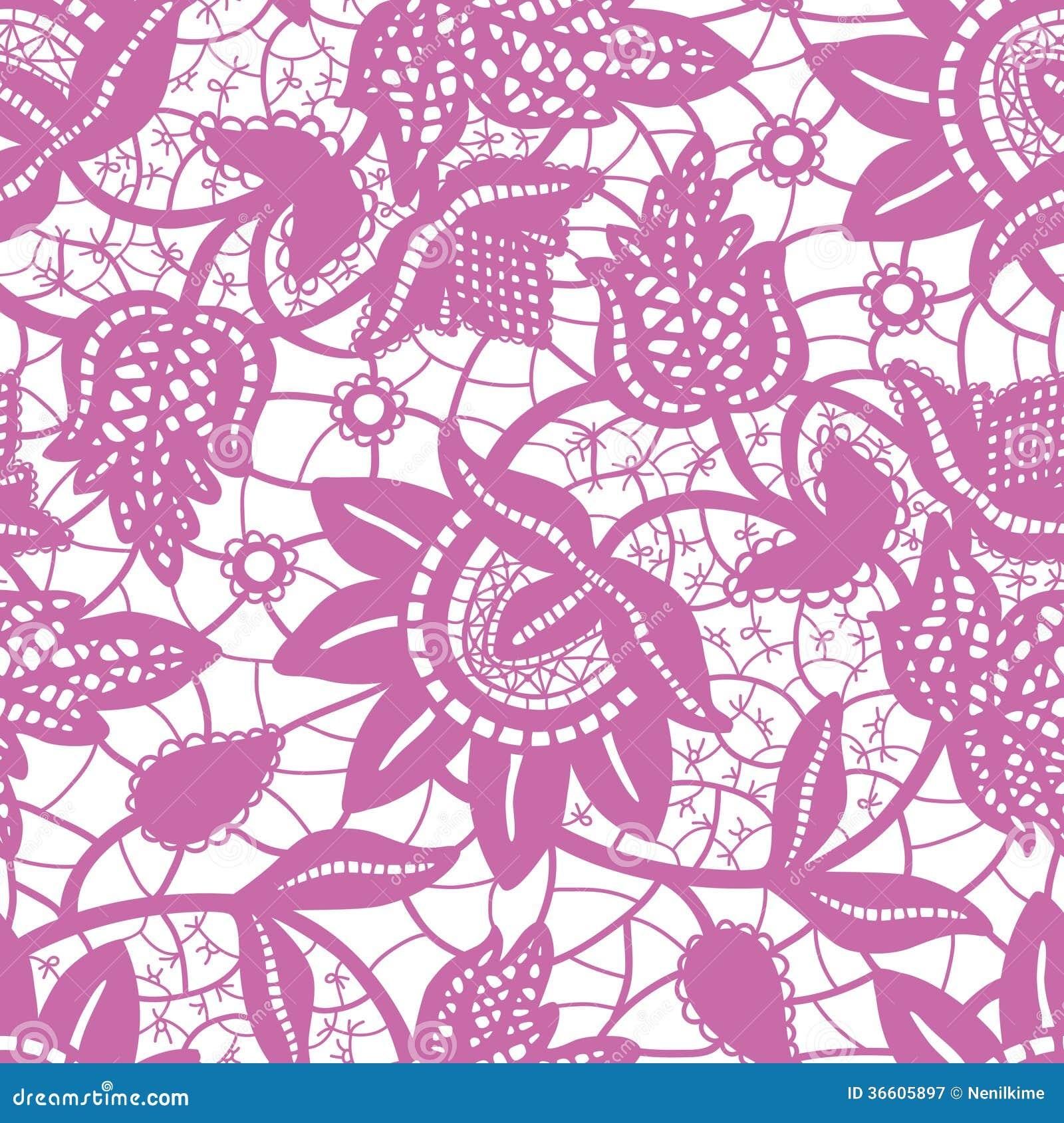 Lavender Background Wedding: Magic Purple Lace Seamless Background Royalty Free Stock