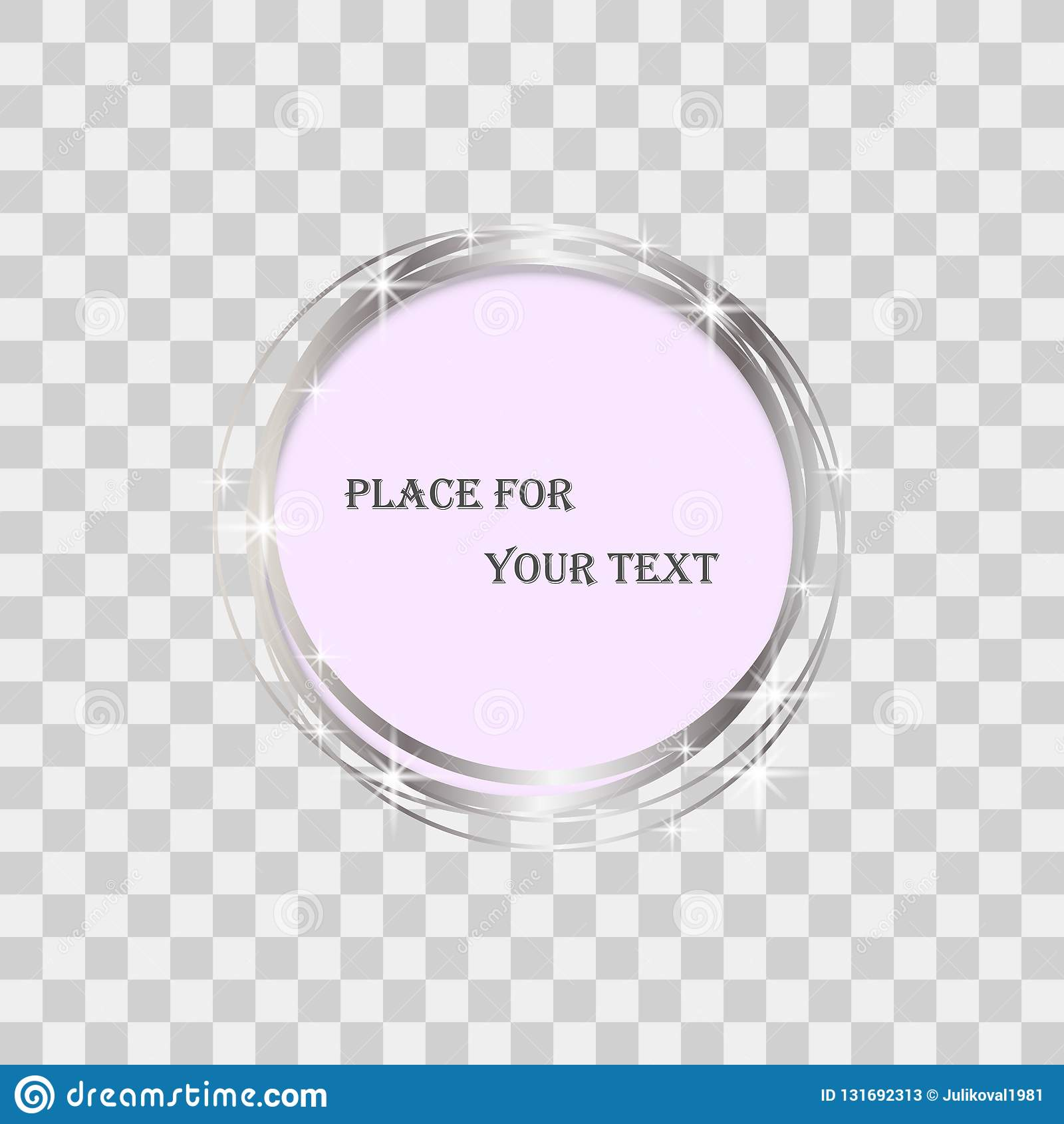 Magic Round Frame Isolated  Glow Light Effect Transparent