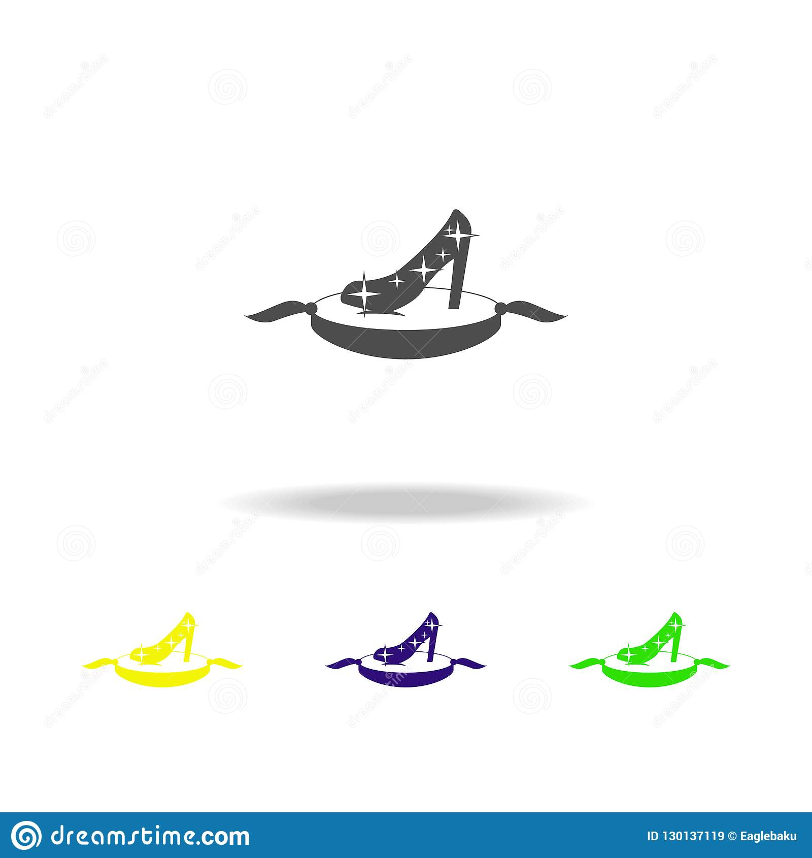 Magic Shoe Multicolored Icons  Element Of Fairy-tale Heroes