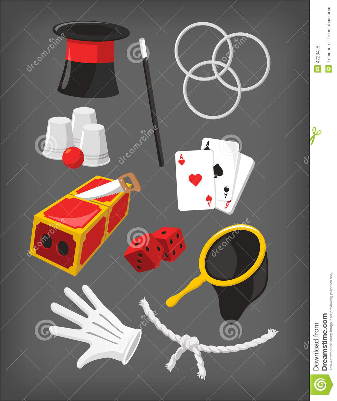 magic show presentation elements icon collection stock magic hat clip art for commercial use Magician Top Hat