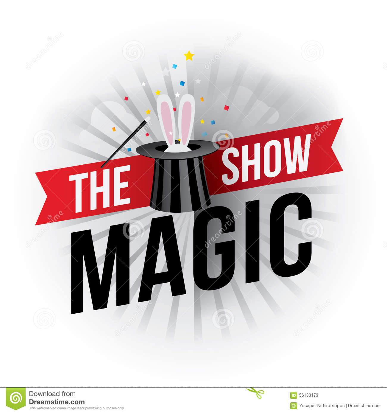 The Magic Show Stock Vector - Image: 56183173