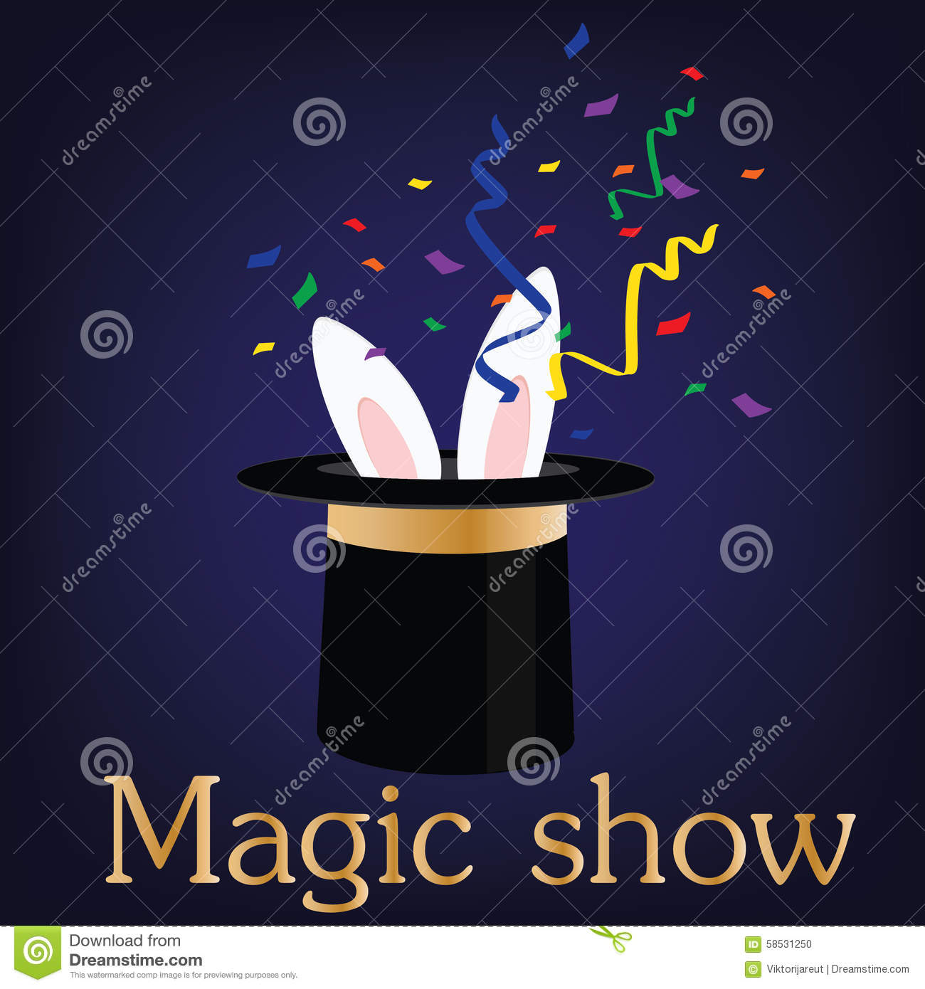 Magic Show Stock Illustration Image 58531250