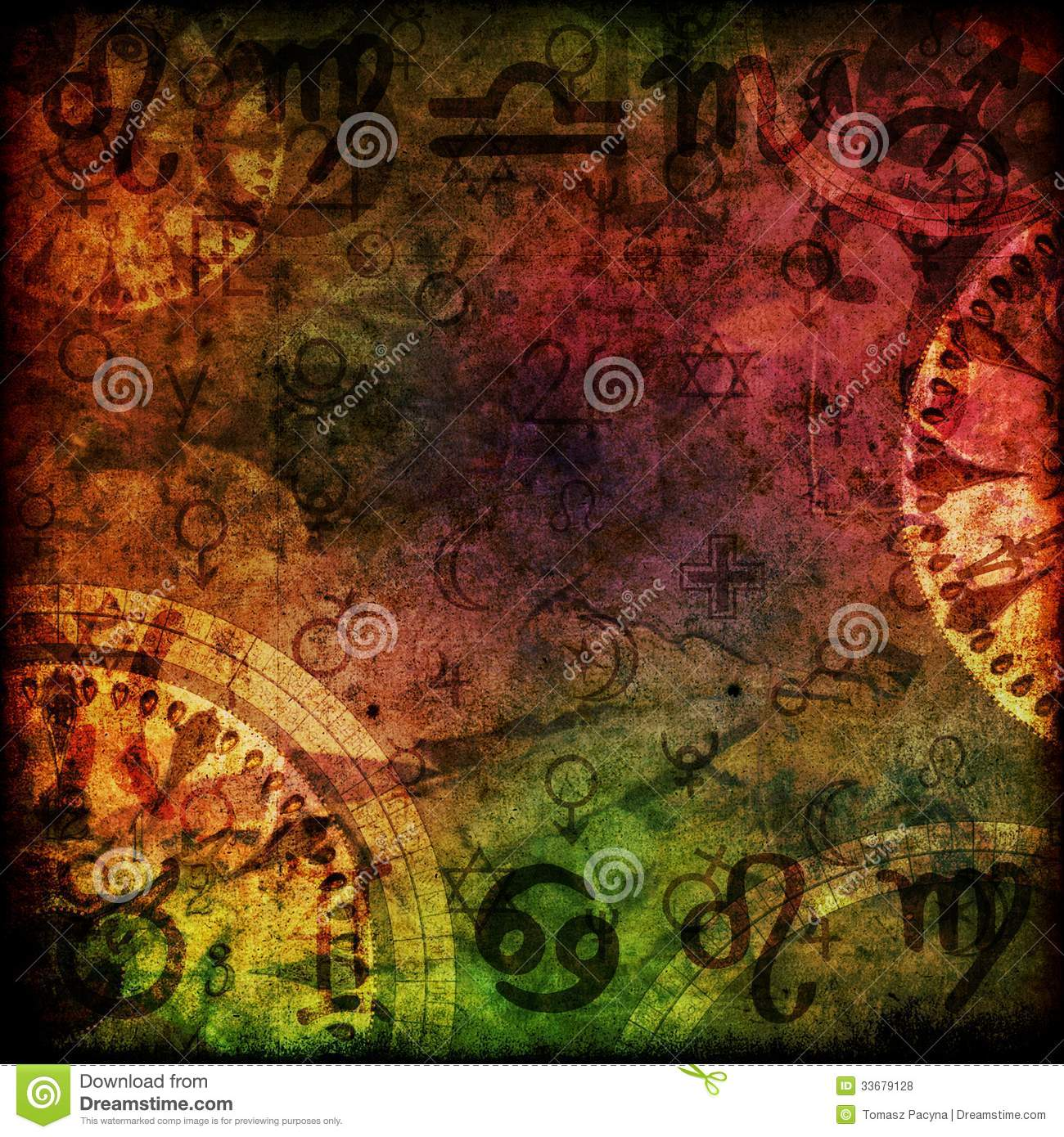 Magic signs astrology background