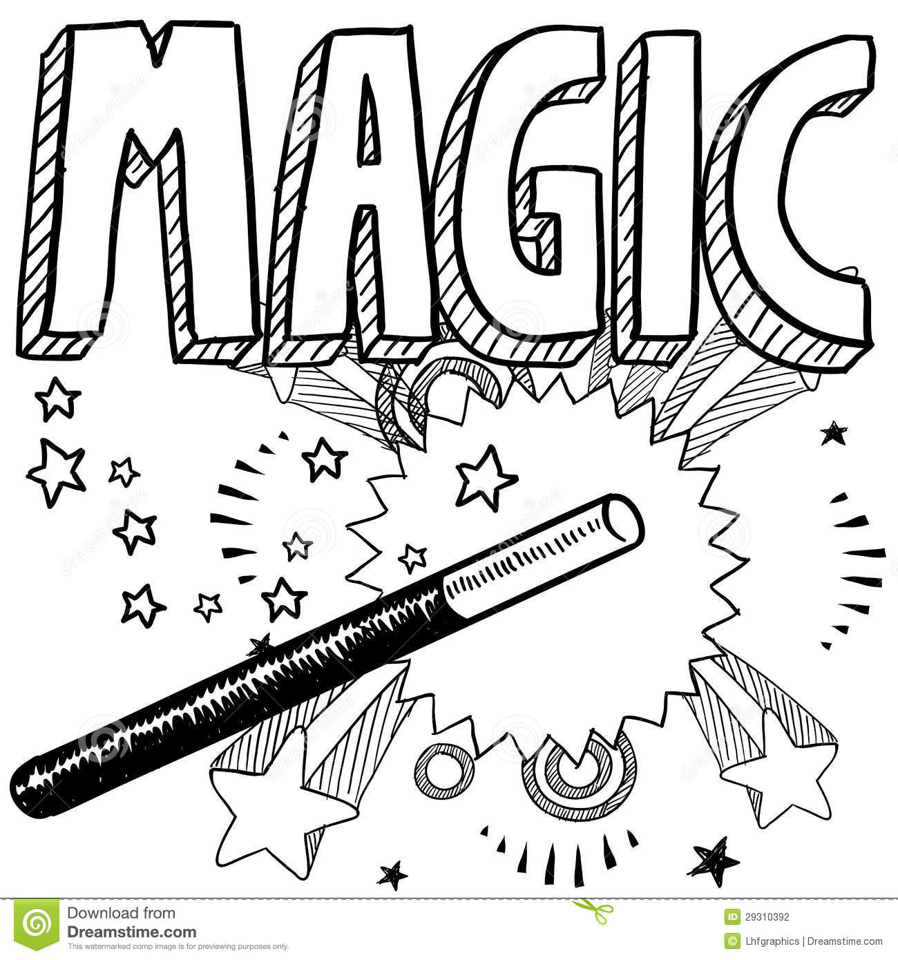 Magic Sketch Stock Photography - Image: 29310392