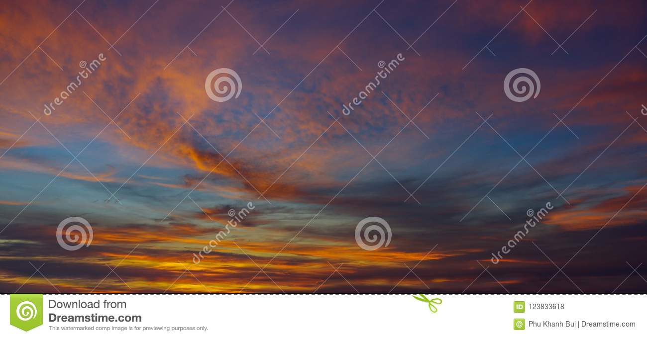 The Magic Of The Sun, Sky And Clouds At Sunrise, Sunset For Graphic