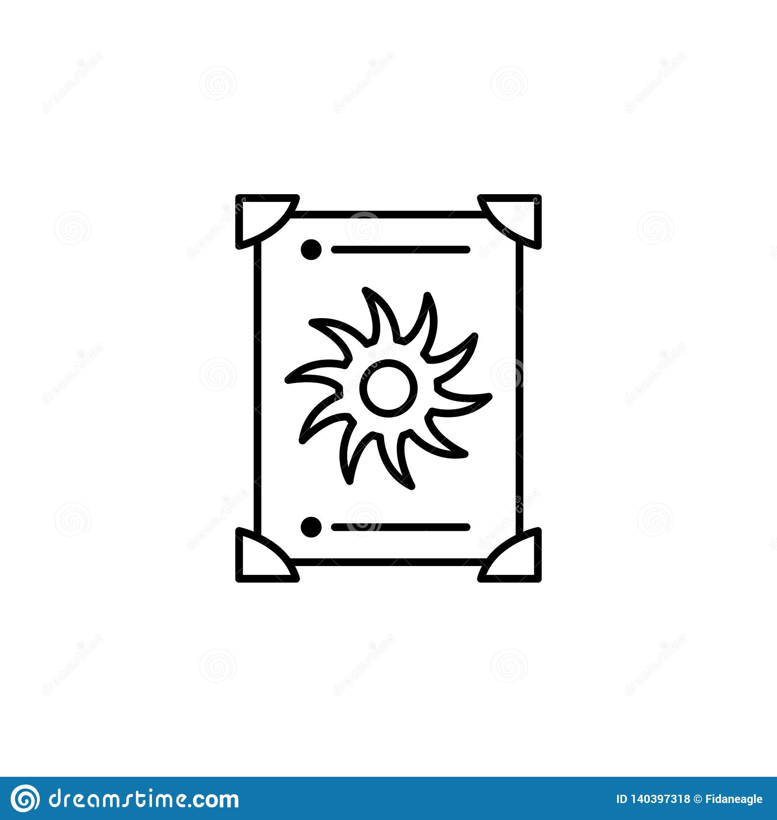 Magic tarot outline icon. Signs and symbols can be used for web, logo, mobile app, UI, UX