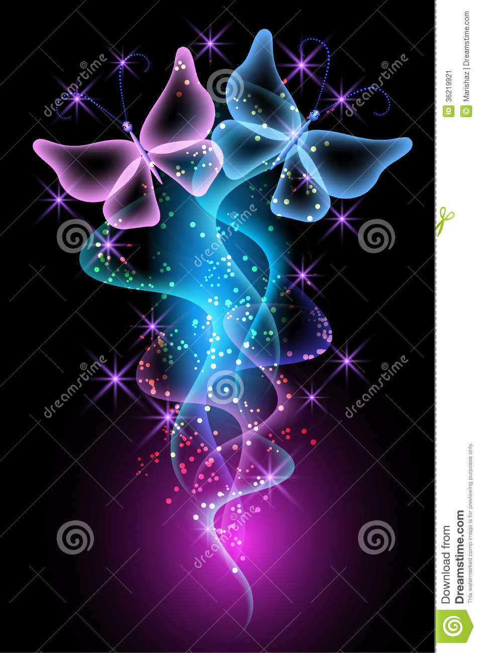 Magic Transparent Butterfly Stock Image - Image: 36219921