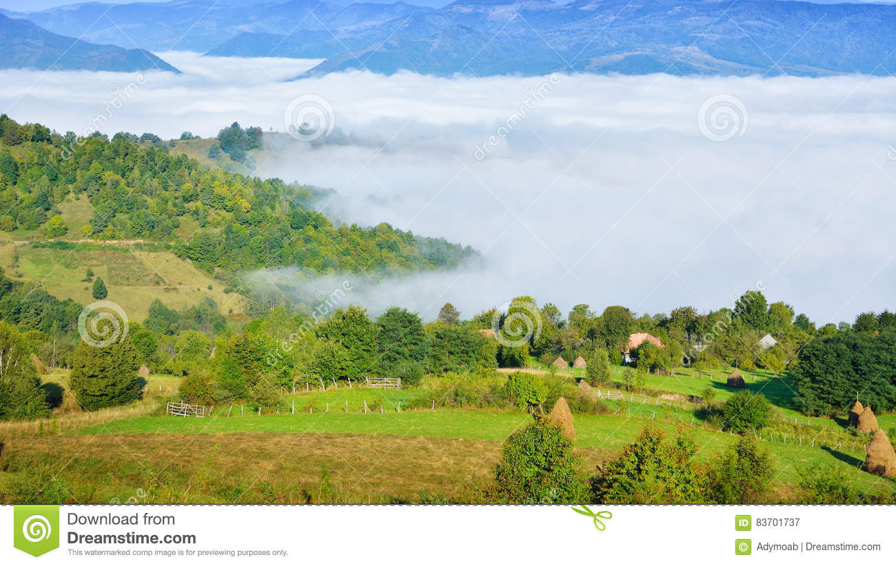 Magic Transylvanian Village - Dumesti - Romania Stock Photo