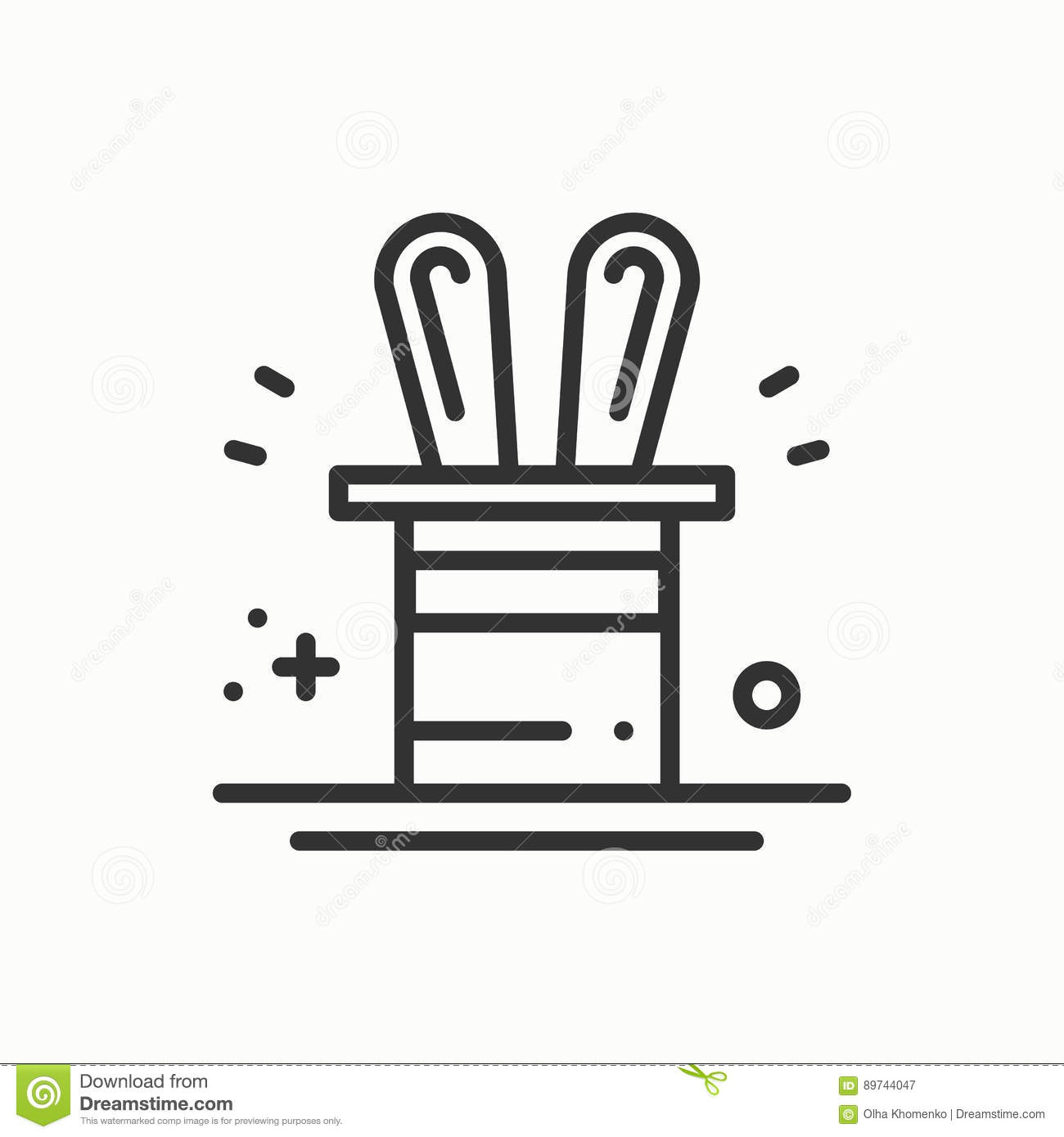 The magic coloring book trick - Magic Trick Icon Rabbit In Magician Black Hat Cylinder Circus Magic Party Birthday Event