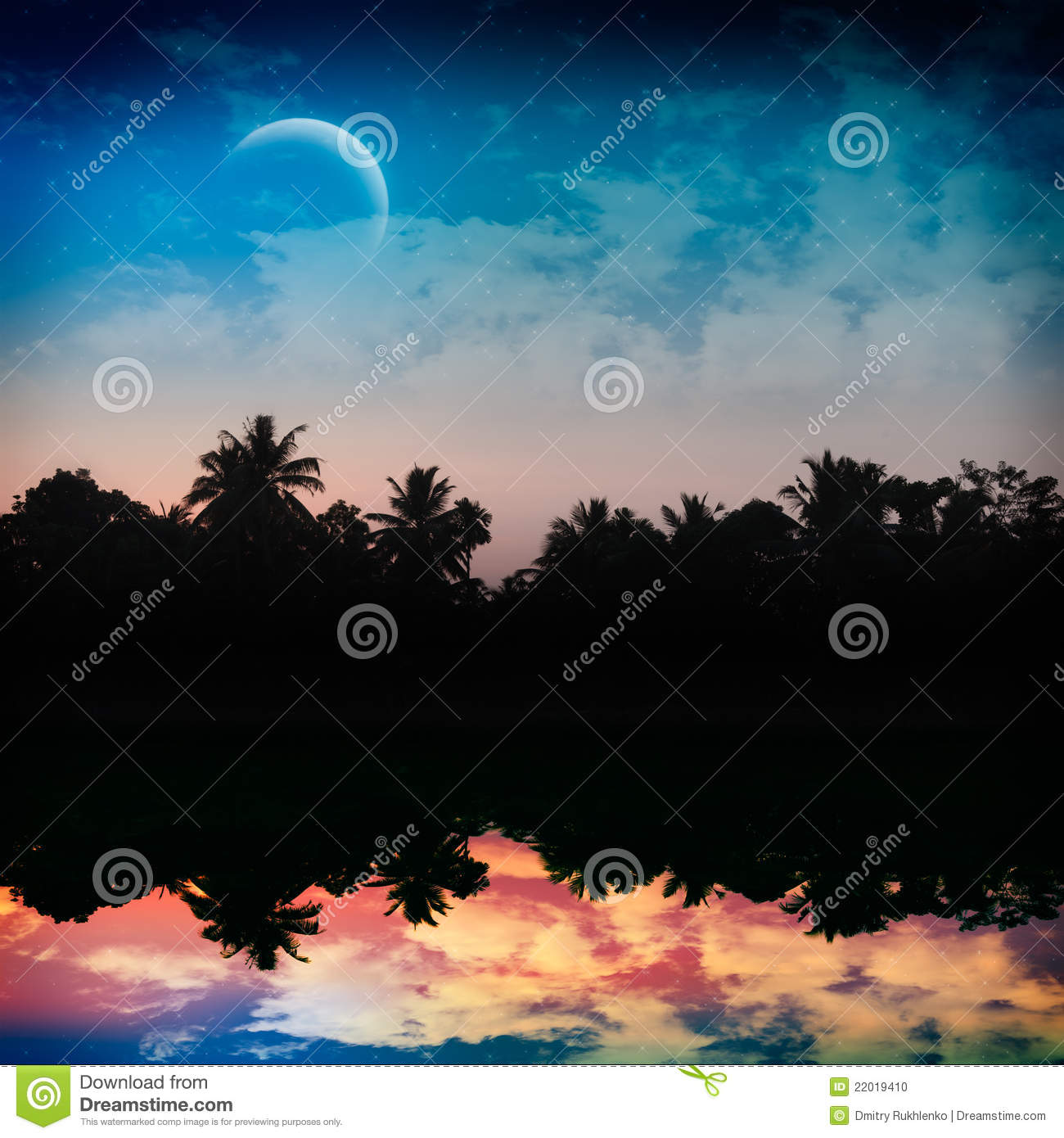 Magic Tropical Night Stock Photo - Image: 22019410