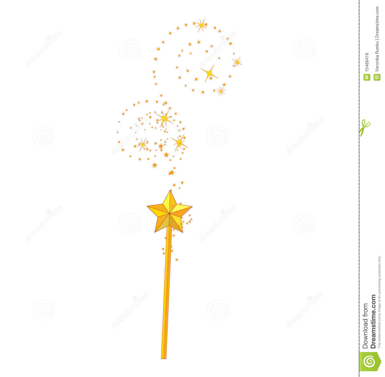 Magic Wand Stock Vector Image Of Color Fantasy Isolated