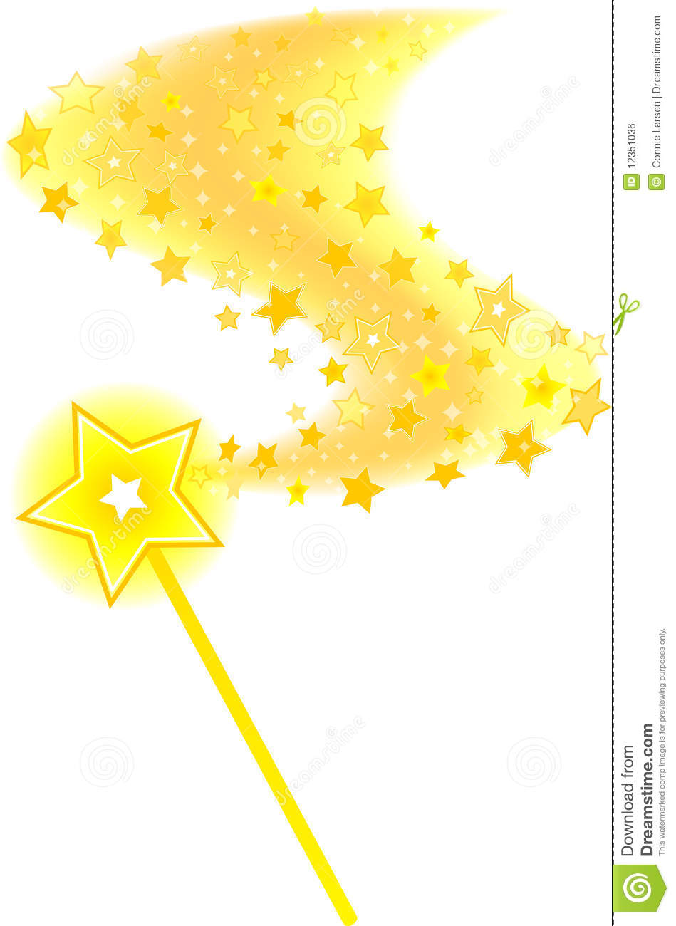 magic wand star trail royalty free stock image
