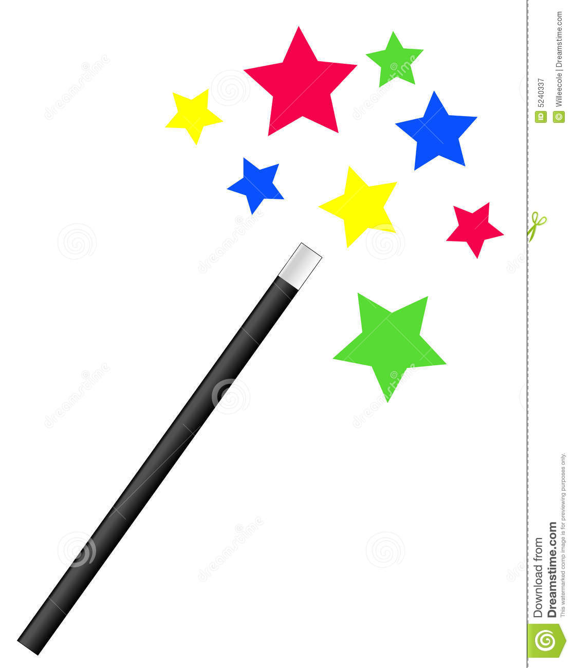 Magic Wand And Stars Royalty Free Stock Photography - Image: 5240337