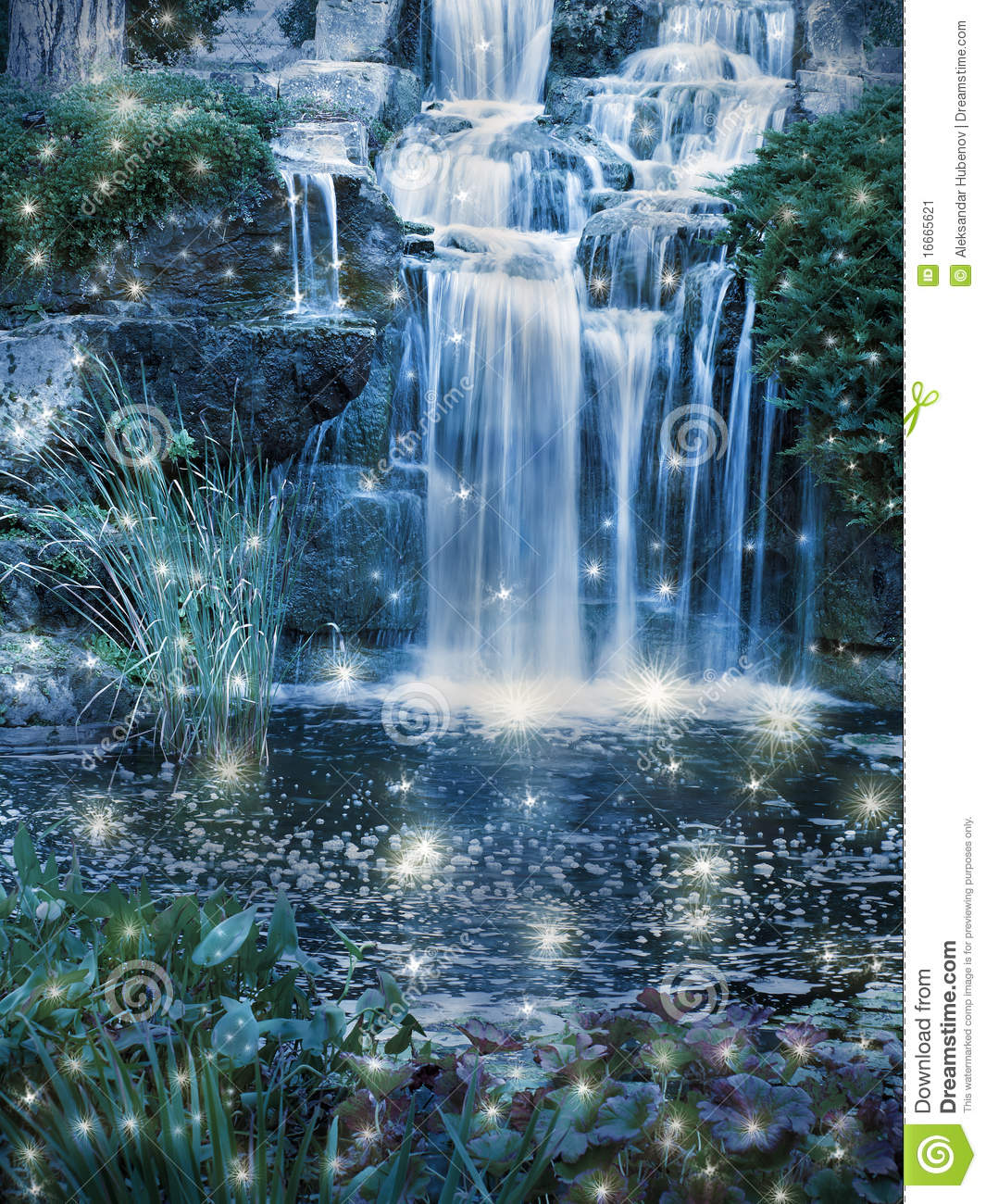 Magic Waterfall Stock Image - Image: 16665621