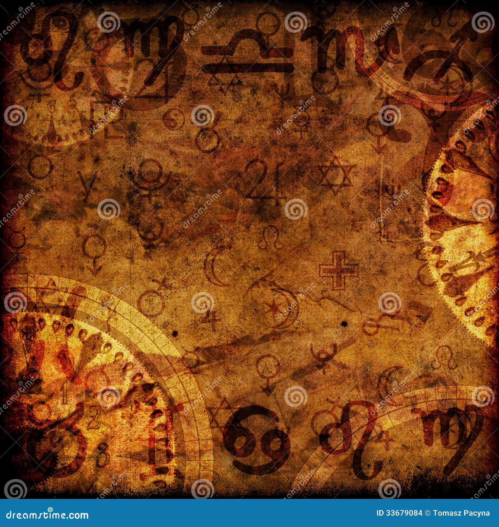 Magic zodiac background