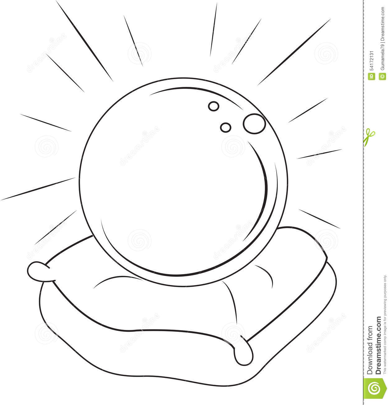crystal ball coloring pages - photo#15