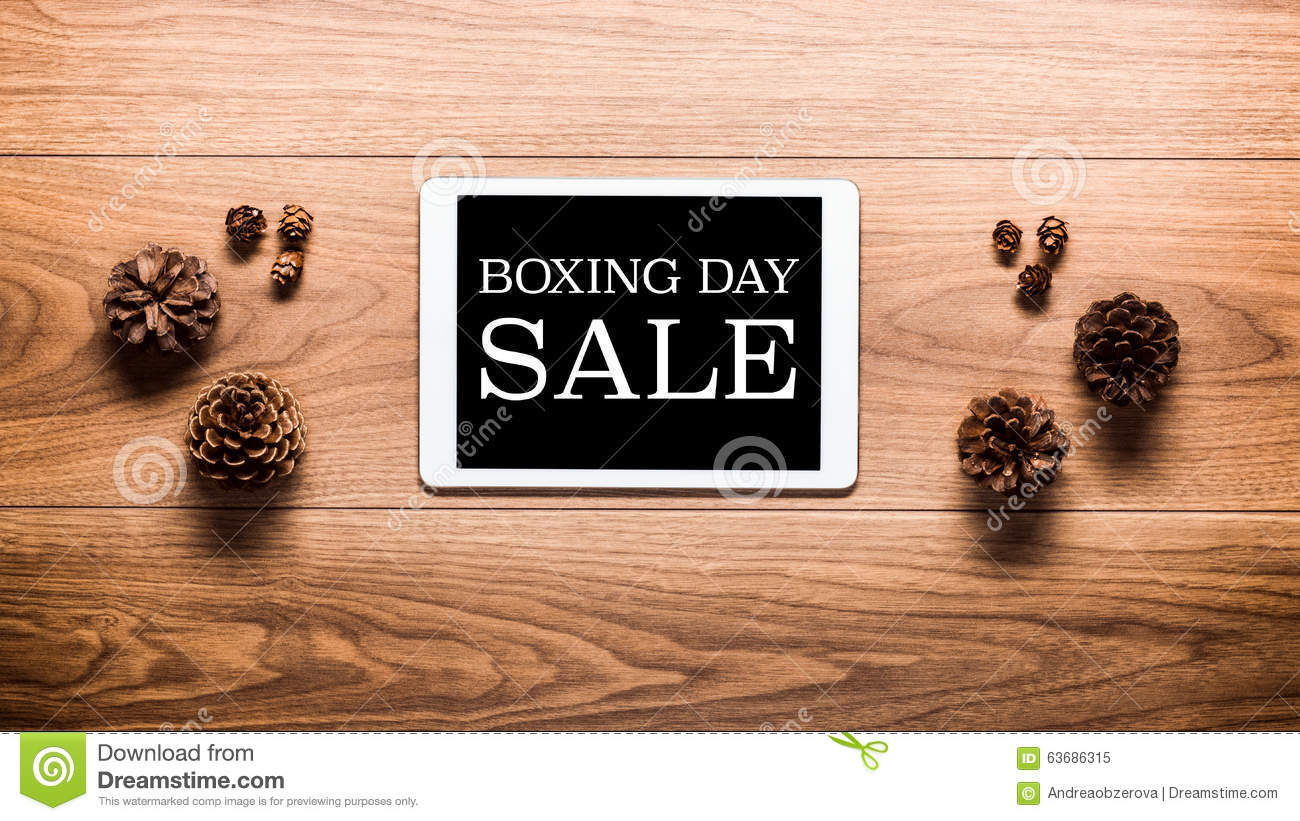 Magical Boxing Day Sale Theme Background, Pine Cones And