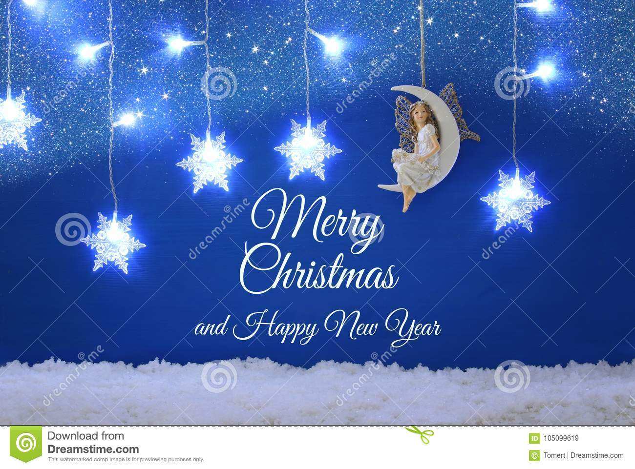 Weihnachtsbilder Merry Christmas.Magical Christmas Image Of Little White Fairy With Glitter Wings