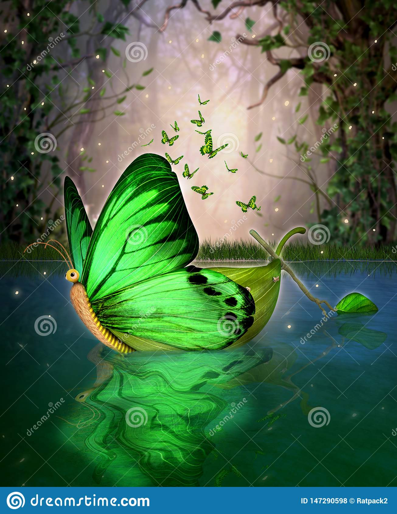 Magical Fairy Wildwood Water Craft Boat Butterfly Shape