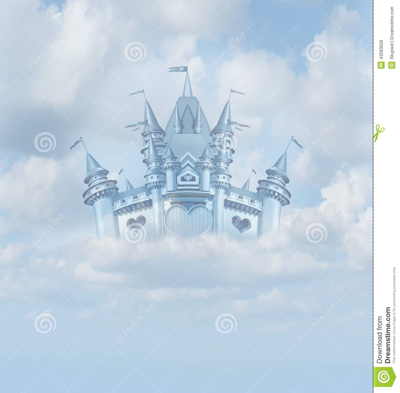 Magical Fairytale Castle Stock Illustration Image 43583626