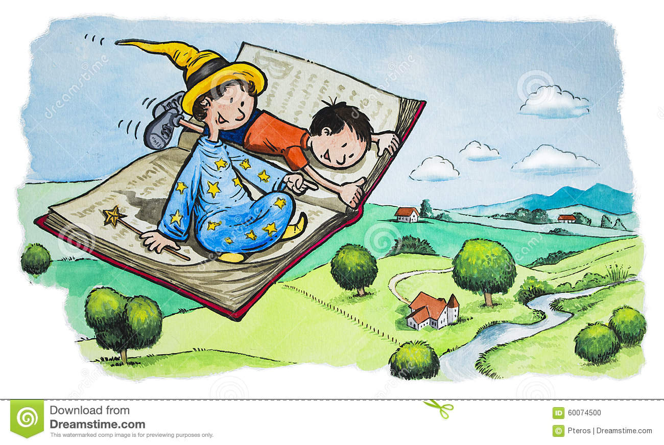 magical flying book stock illustration image 60074500