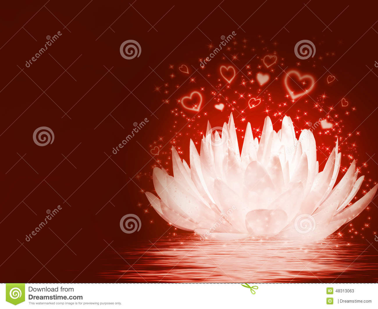 Magical Lotus Flower Stock Illustration Illustration Of Healthy