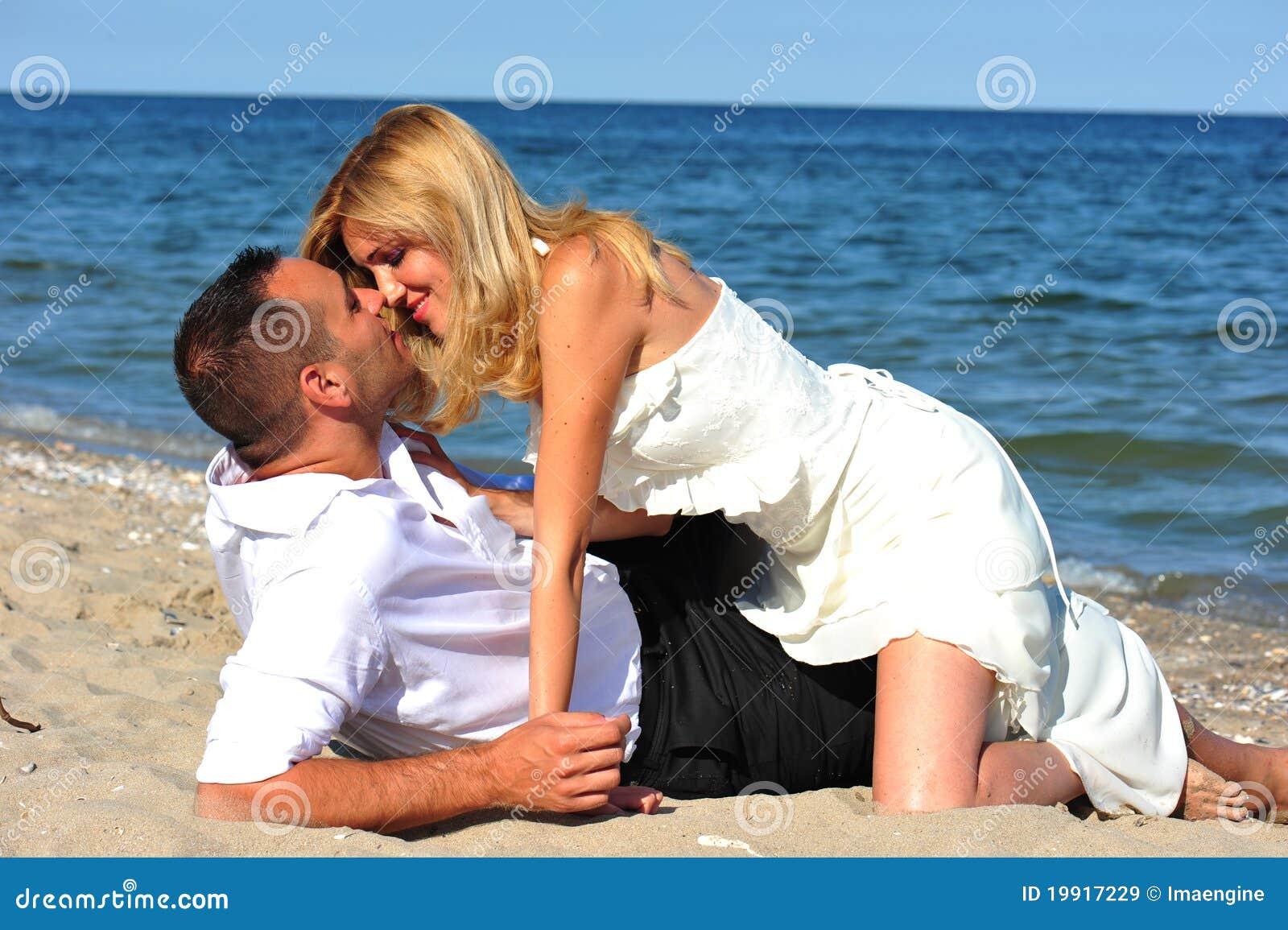 Magical moments - newlyweds kissing