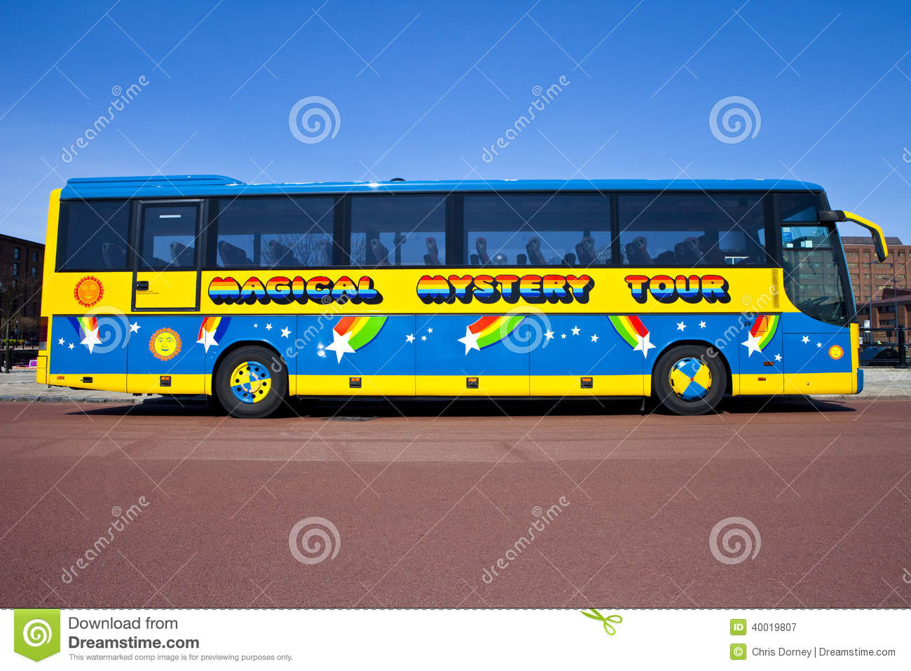 Magical Mystery Tour Bus in Liverpool