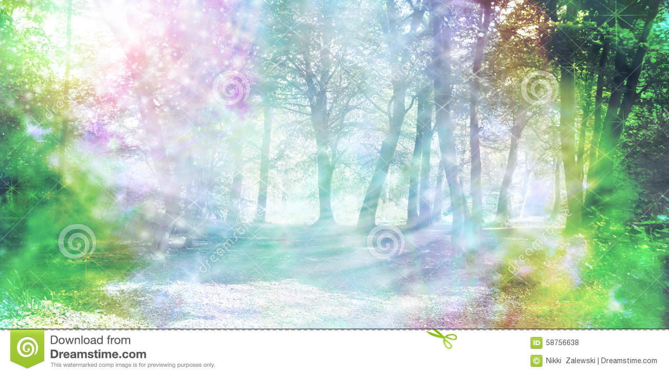 Magical Spiritual Woodland Energy Stock Photo Image
