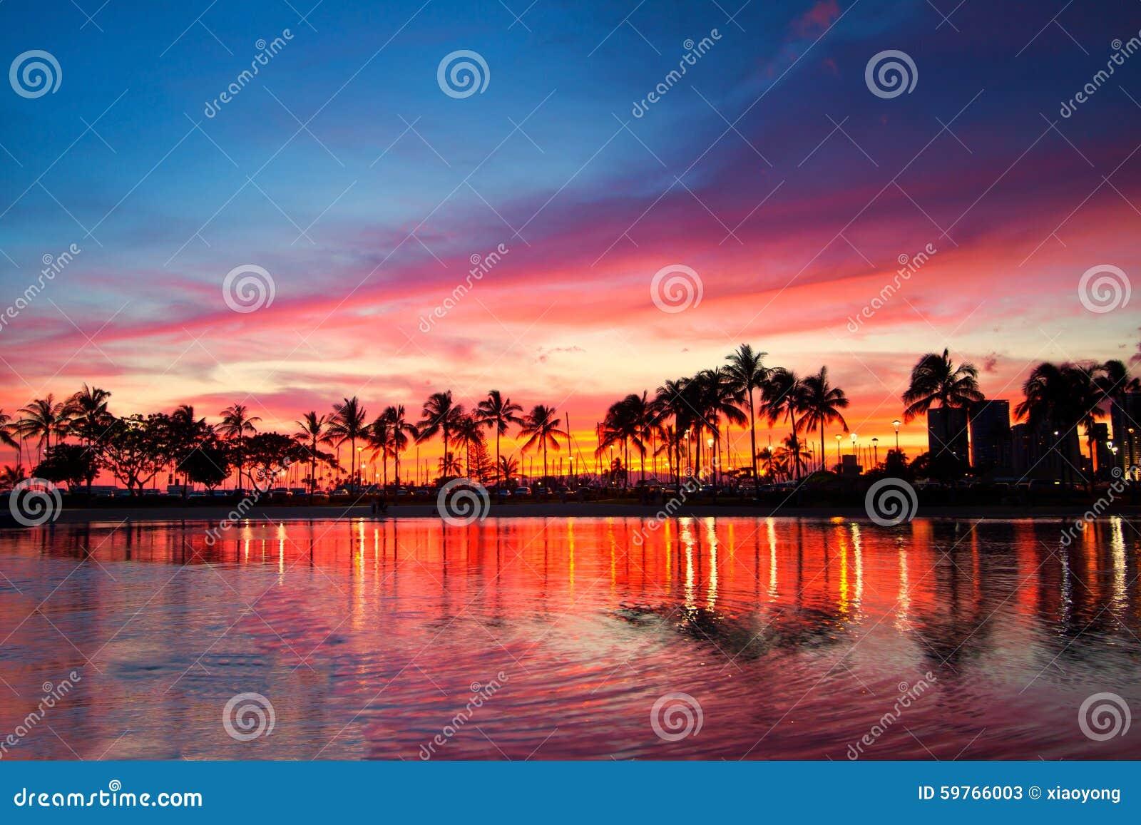 magical sunset, Hawaii