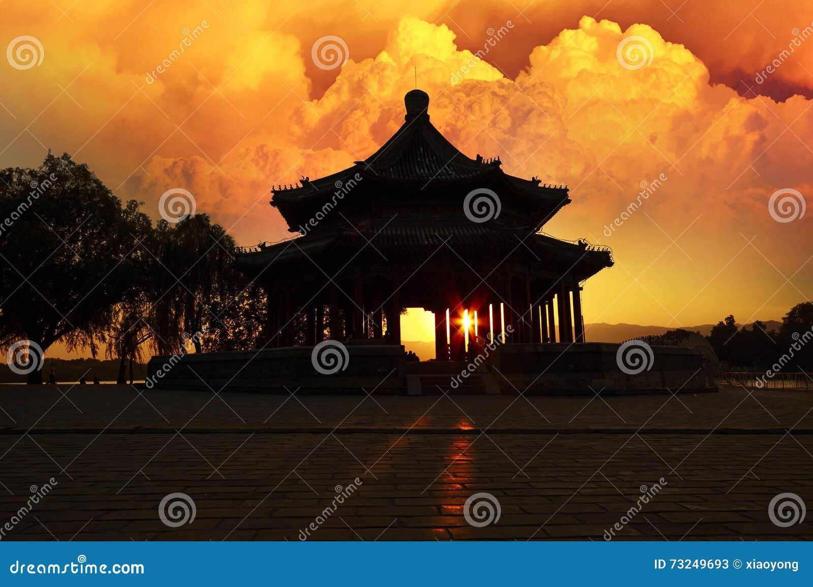 Magical sunset, the Summer Palace, Beijing, China