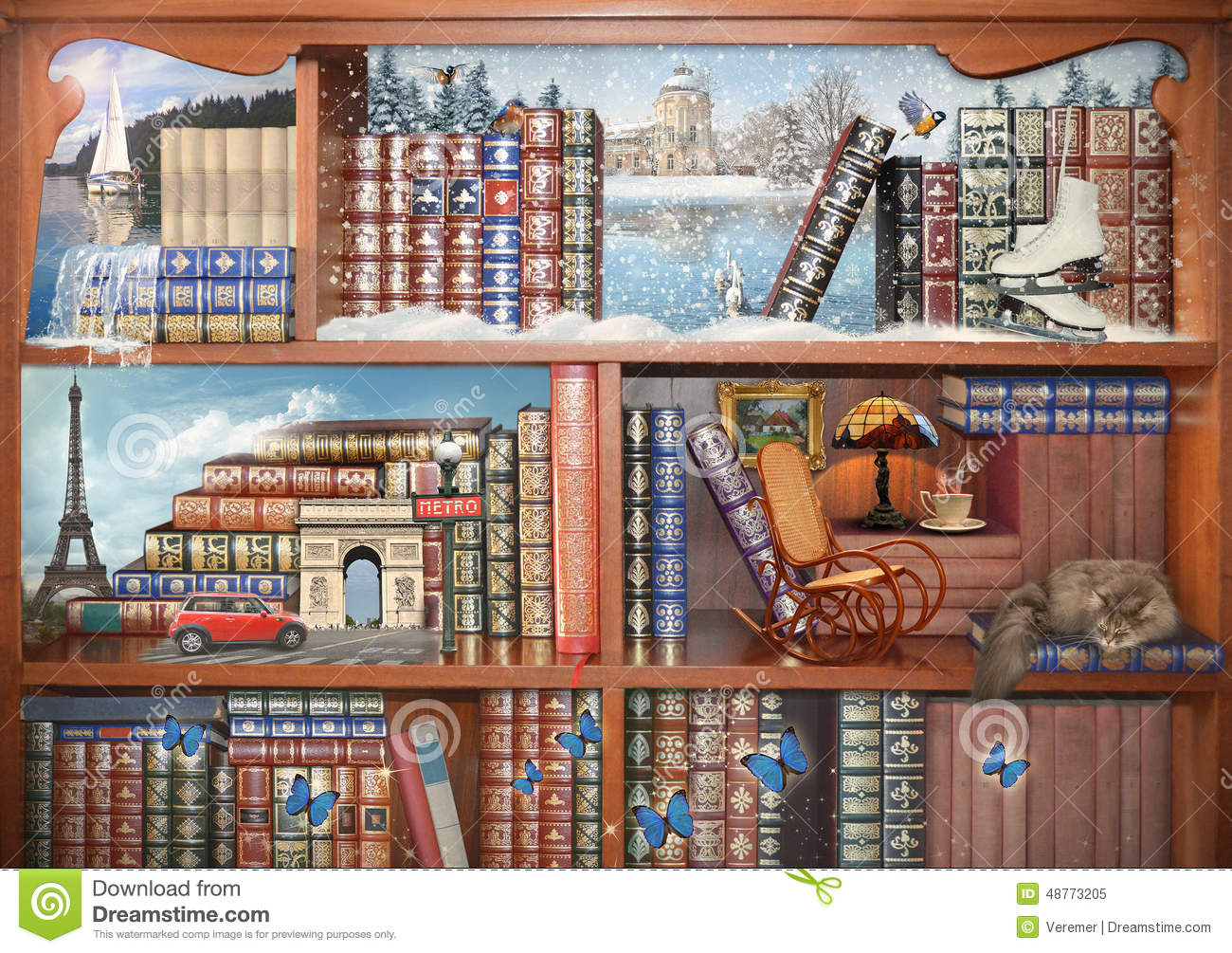 The Magical World Of Books Concept Graphic Stock Photo Image 48773205