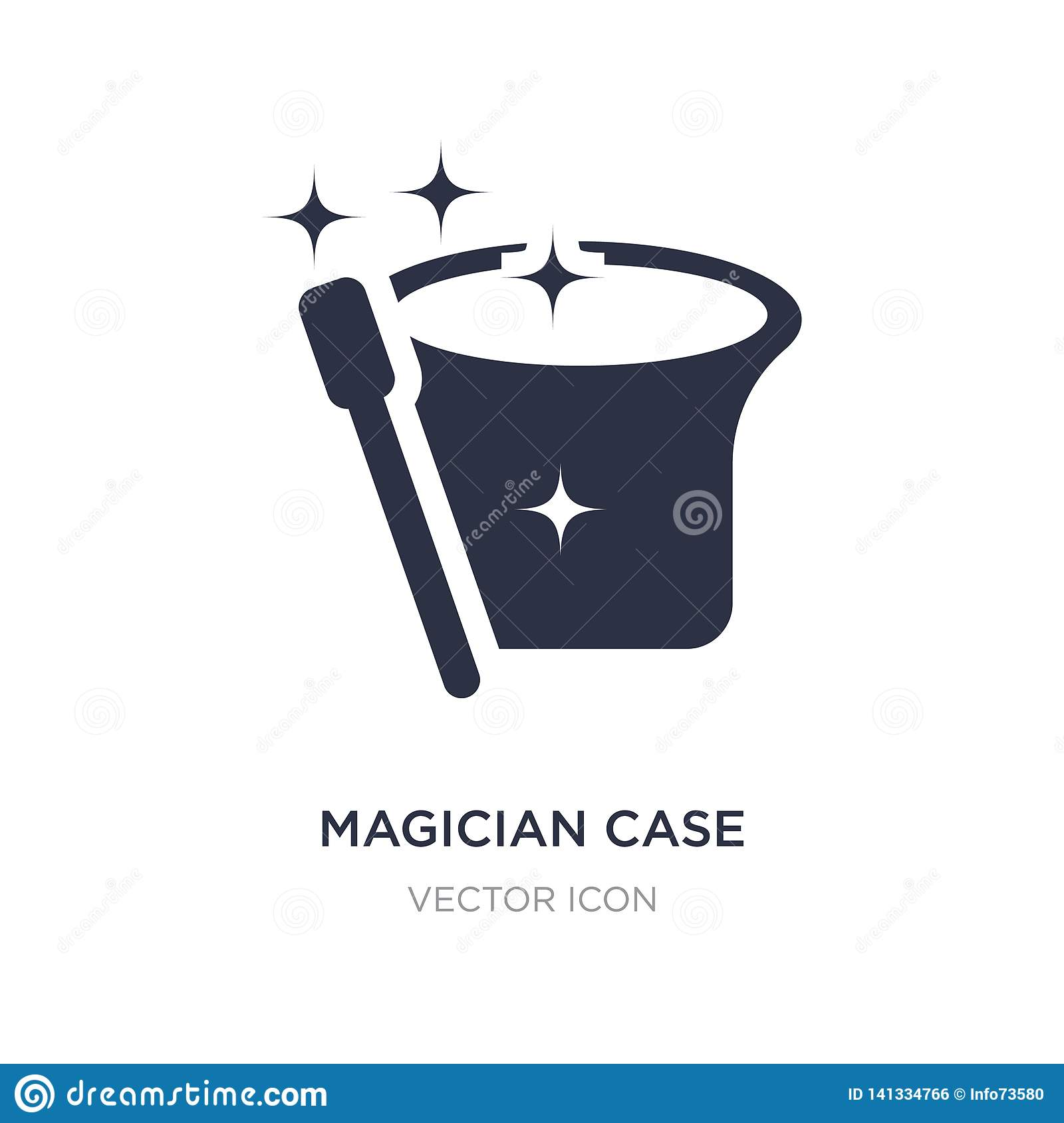magician case icon on white background. Simple element illustration from Party concept