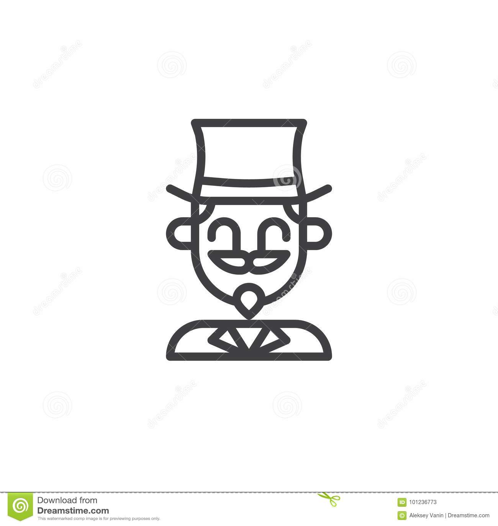 Tremendous Magician Circus Actor Line Icon Stock Vector Illustration Download Free Architecture Designs Licukmadebymaigaardcom