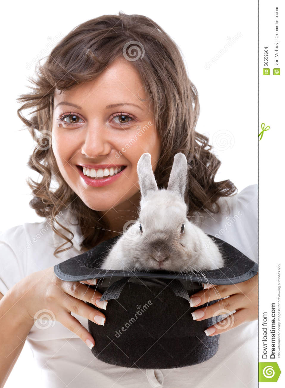 Magician With A Rabbit Royalty-Free Stock Photo ...