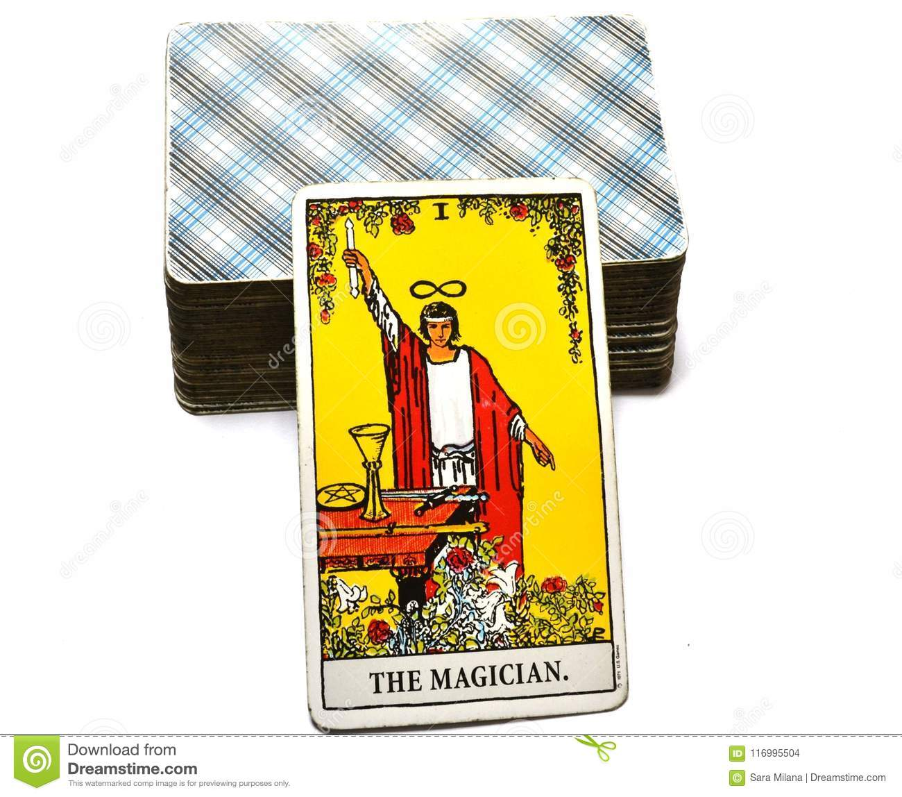 The Magician Tarot Card Power Intelect Magic Control Stock Photo
