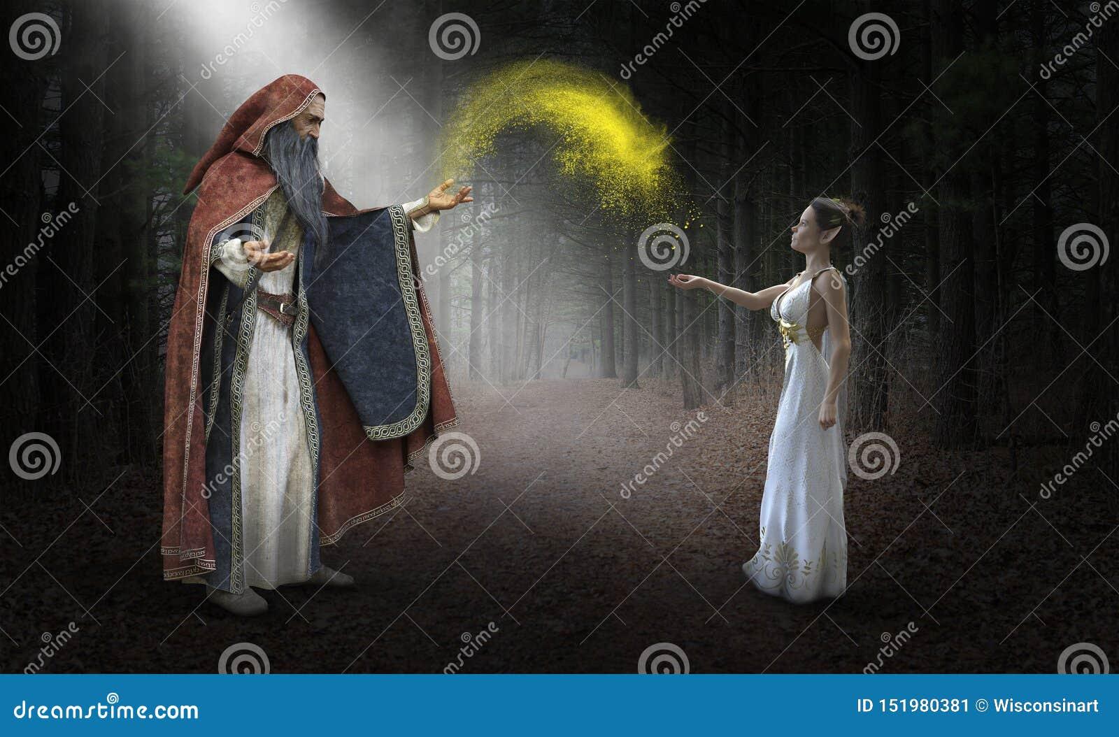 Magicien d imagination, imagination, magie, Elf