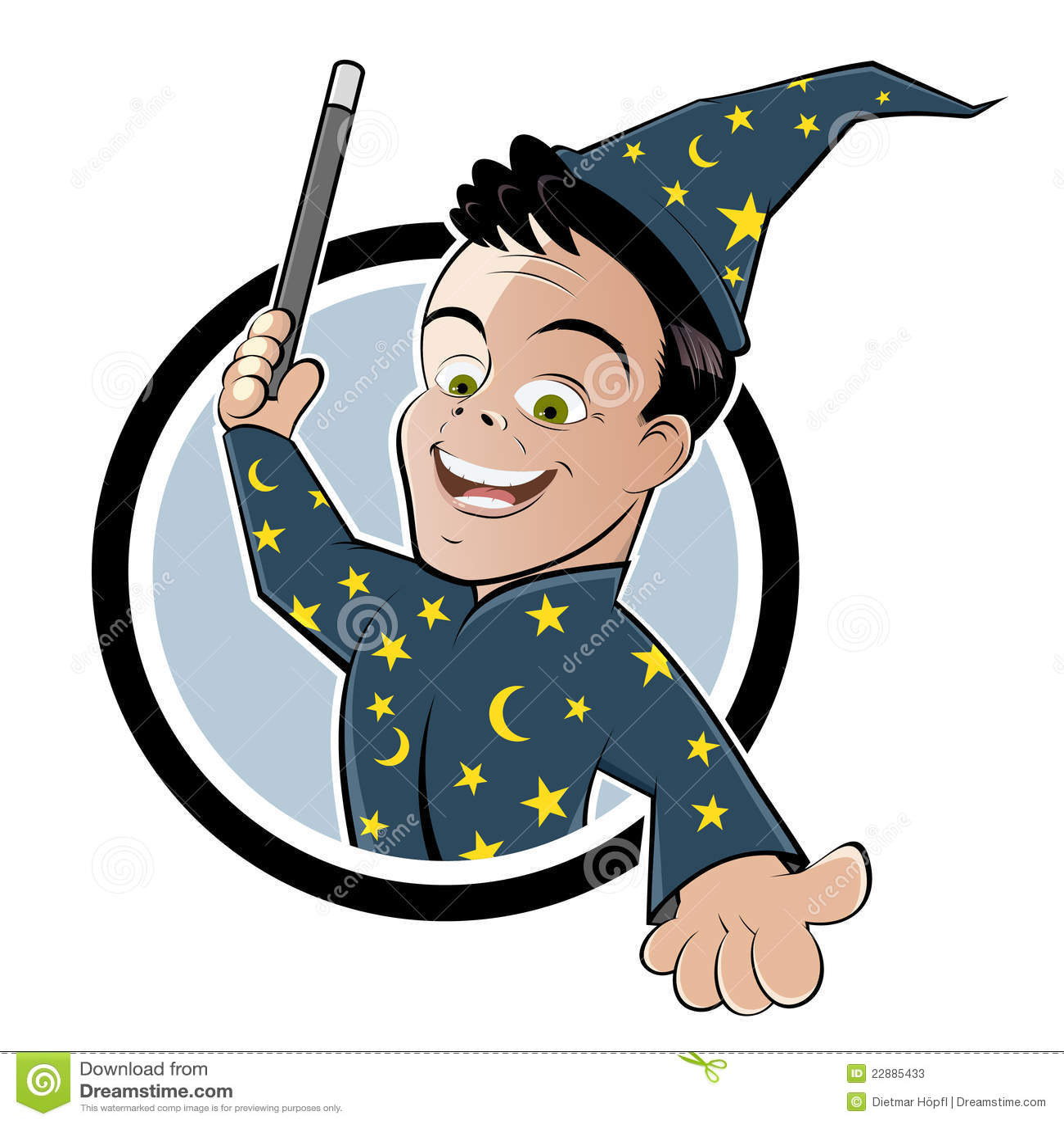 Magicien de dessin anim avec la baguette magique - Magicien dessin ...