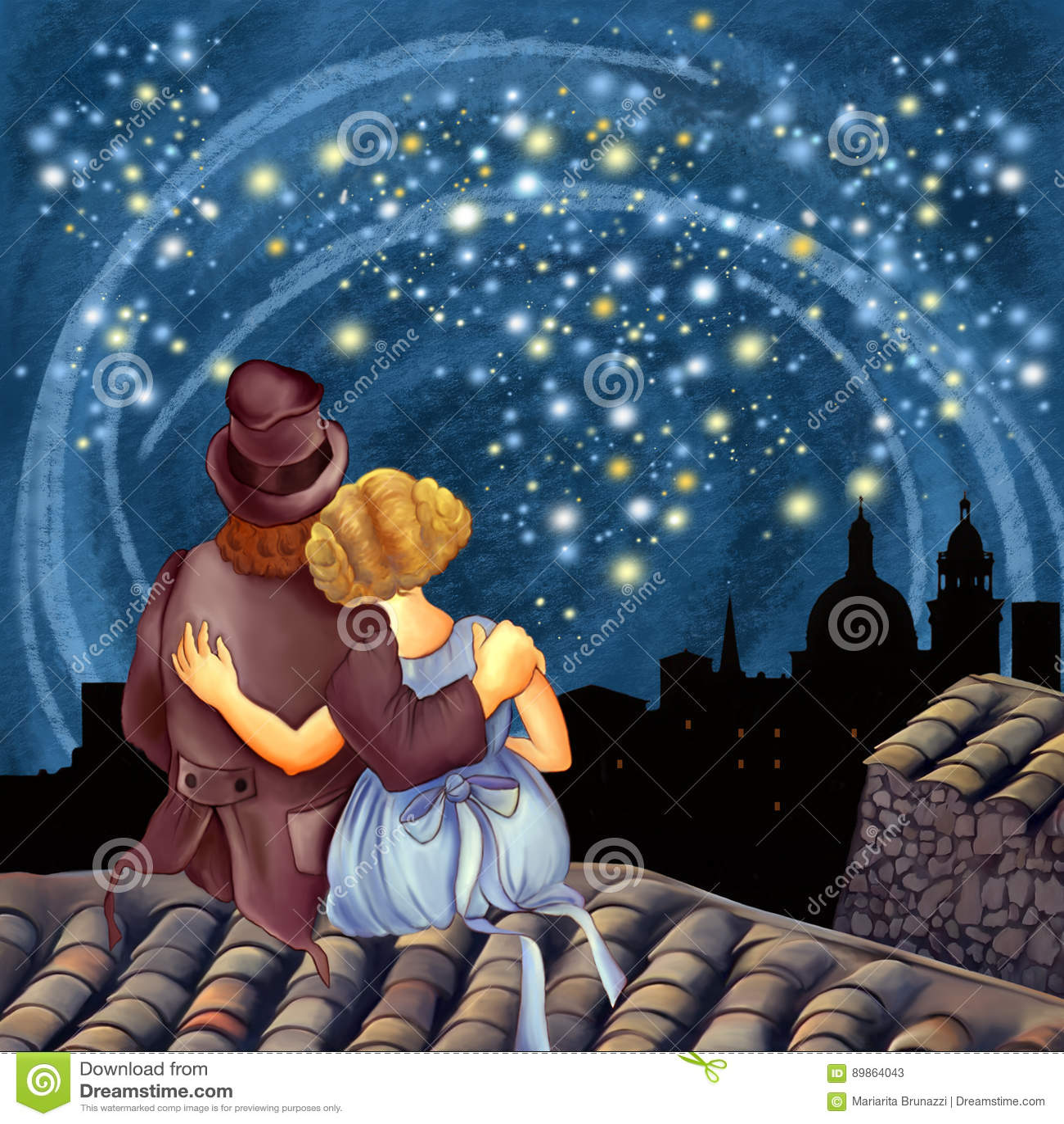 Magiczna gwiaździsta noc