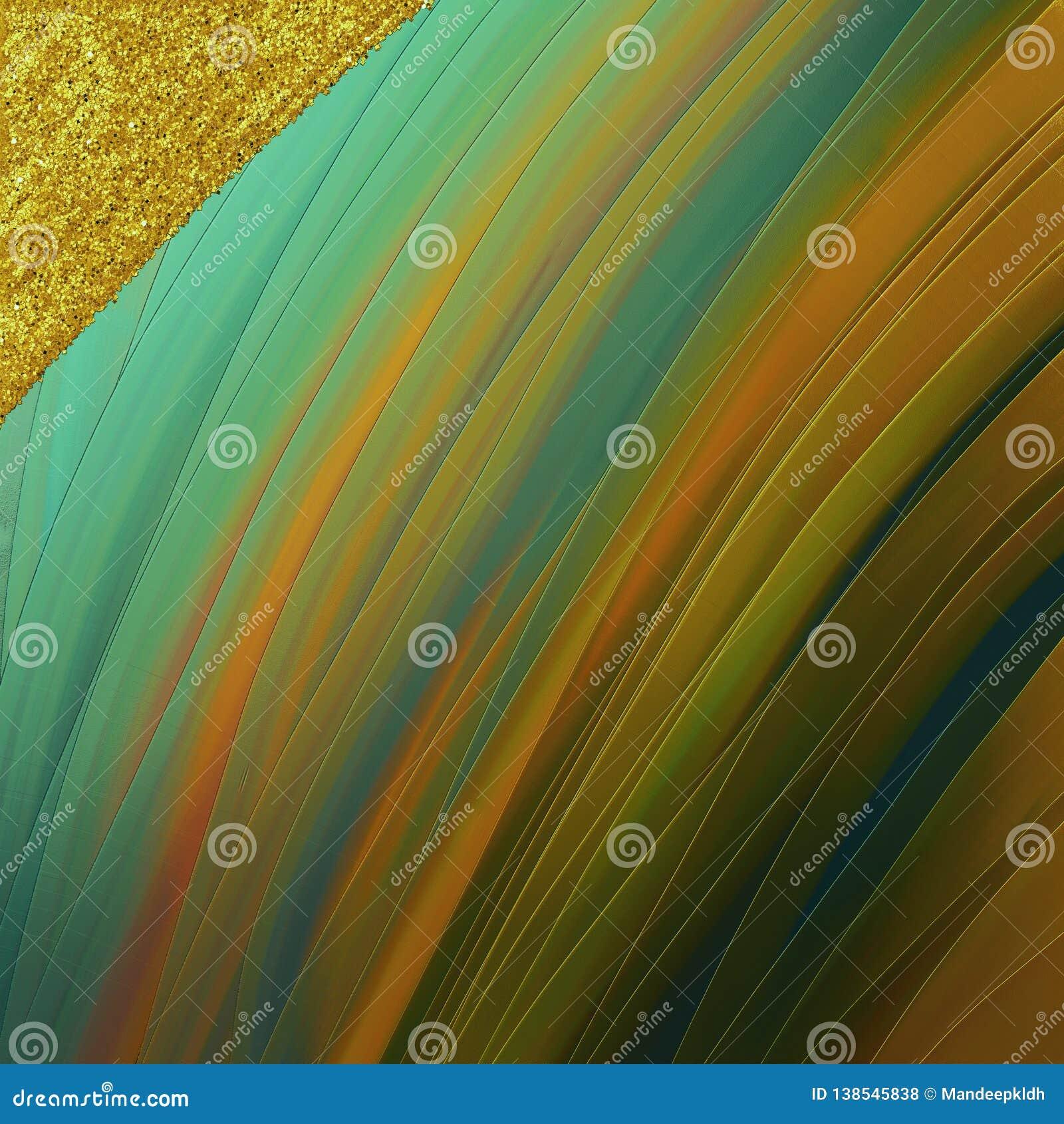 Magiczna jaskrawa tapeta Złoci zabarwiający uderzenia z błyskotliwości łatą Dobry dla rzemiosła, prezent, wystrój, opakowanie, te